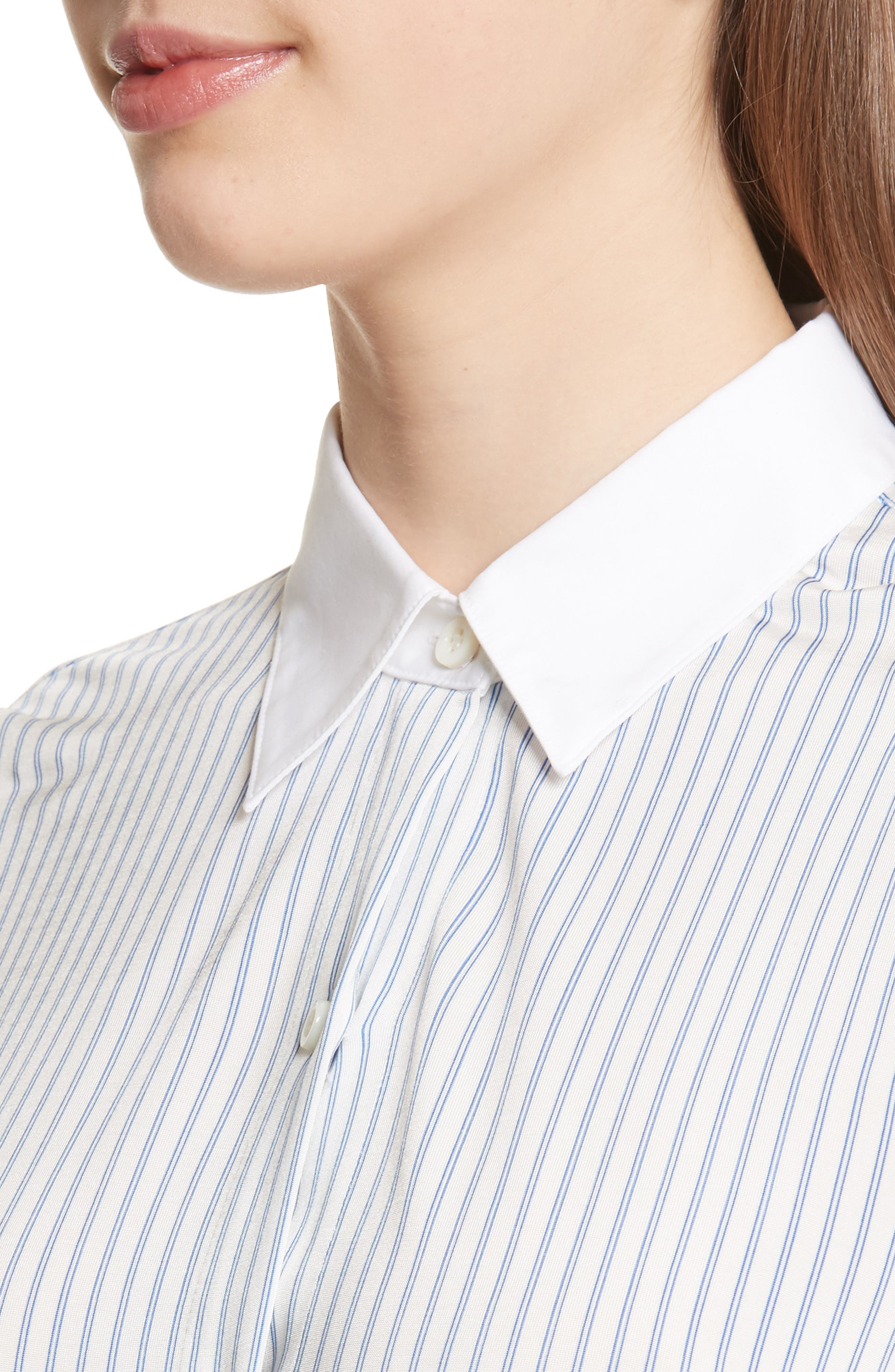 Alternate Image 4  - Theory Essential Stripe Jersey Shirt