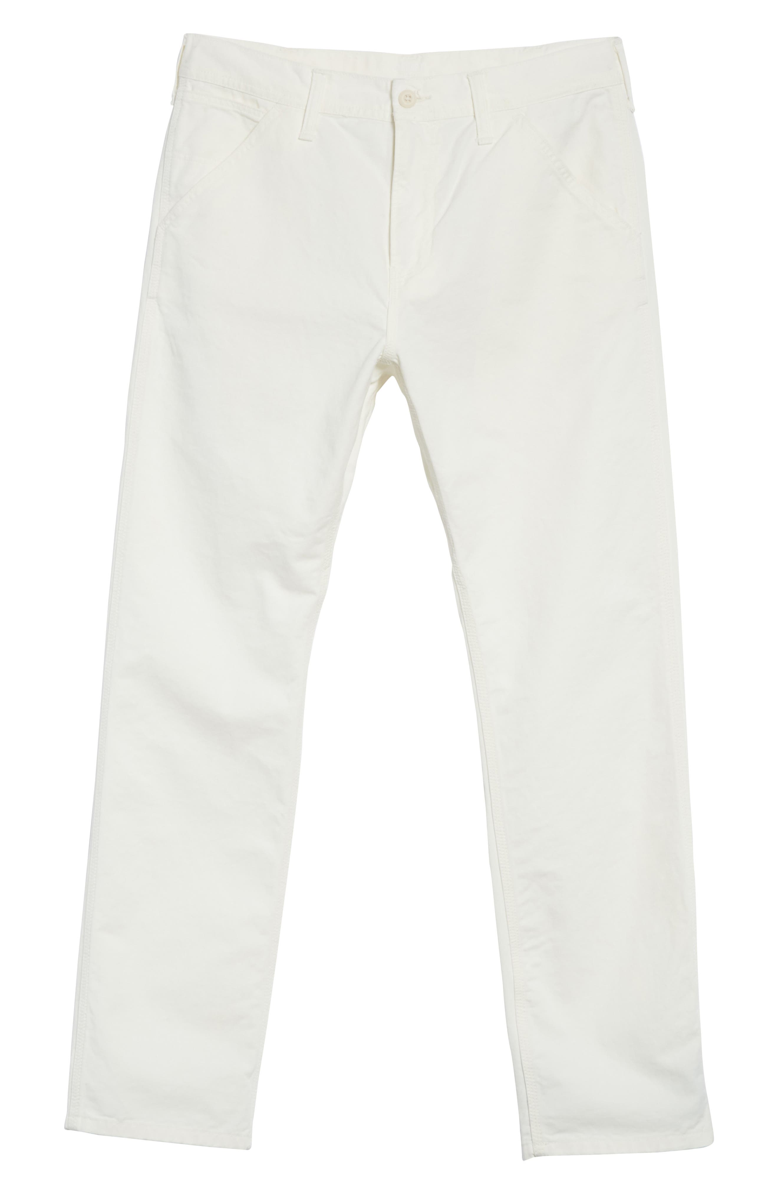 Chalk Pants,                             Alternate thumbnail 6, color,                             Off White