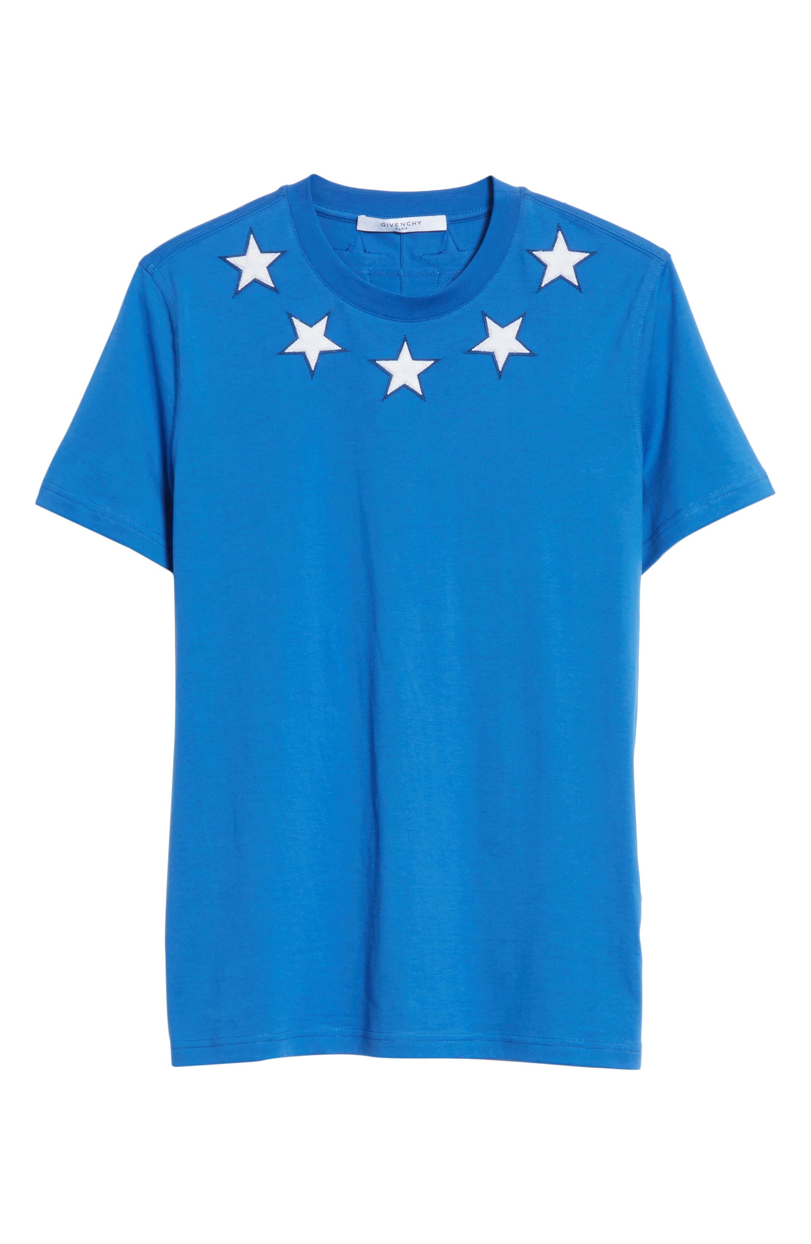 Star Appliqué T-Shirt,                             Main thumbnail 1, color,                             Blue