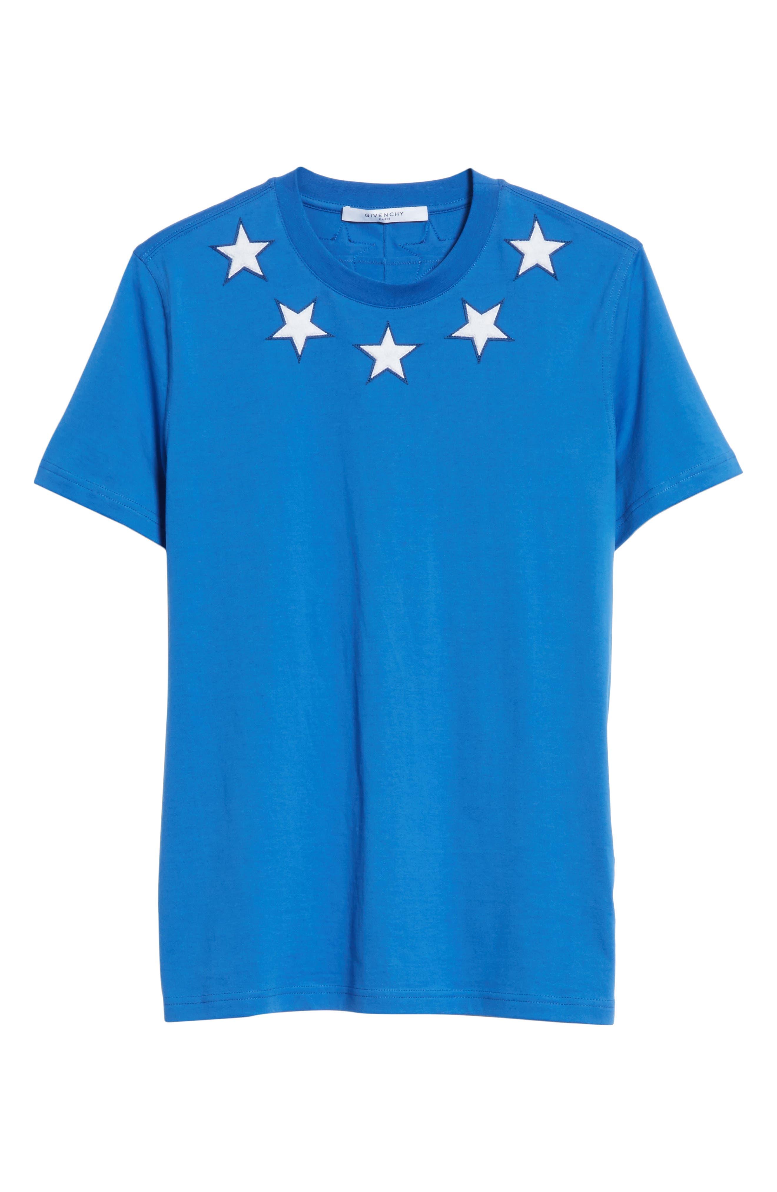 Star Appliqué T-Shirt,                         Main,                         color, Blue