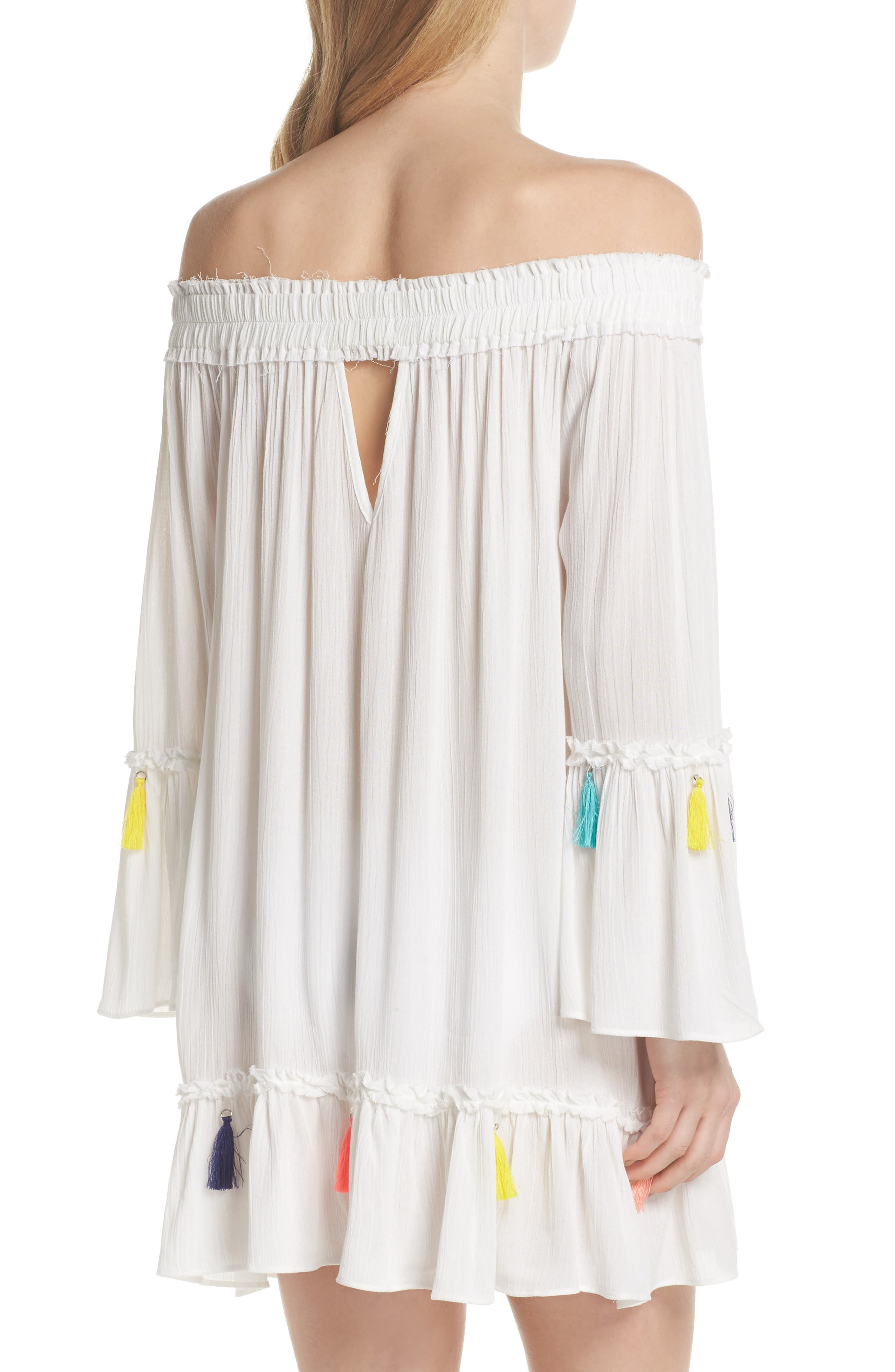 Alternate Image 2  - Surf Gypsy Tassel Cover-Up