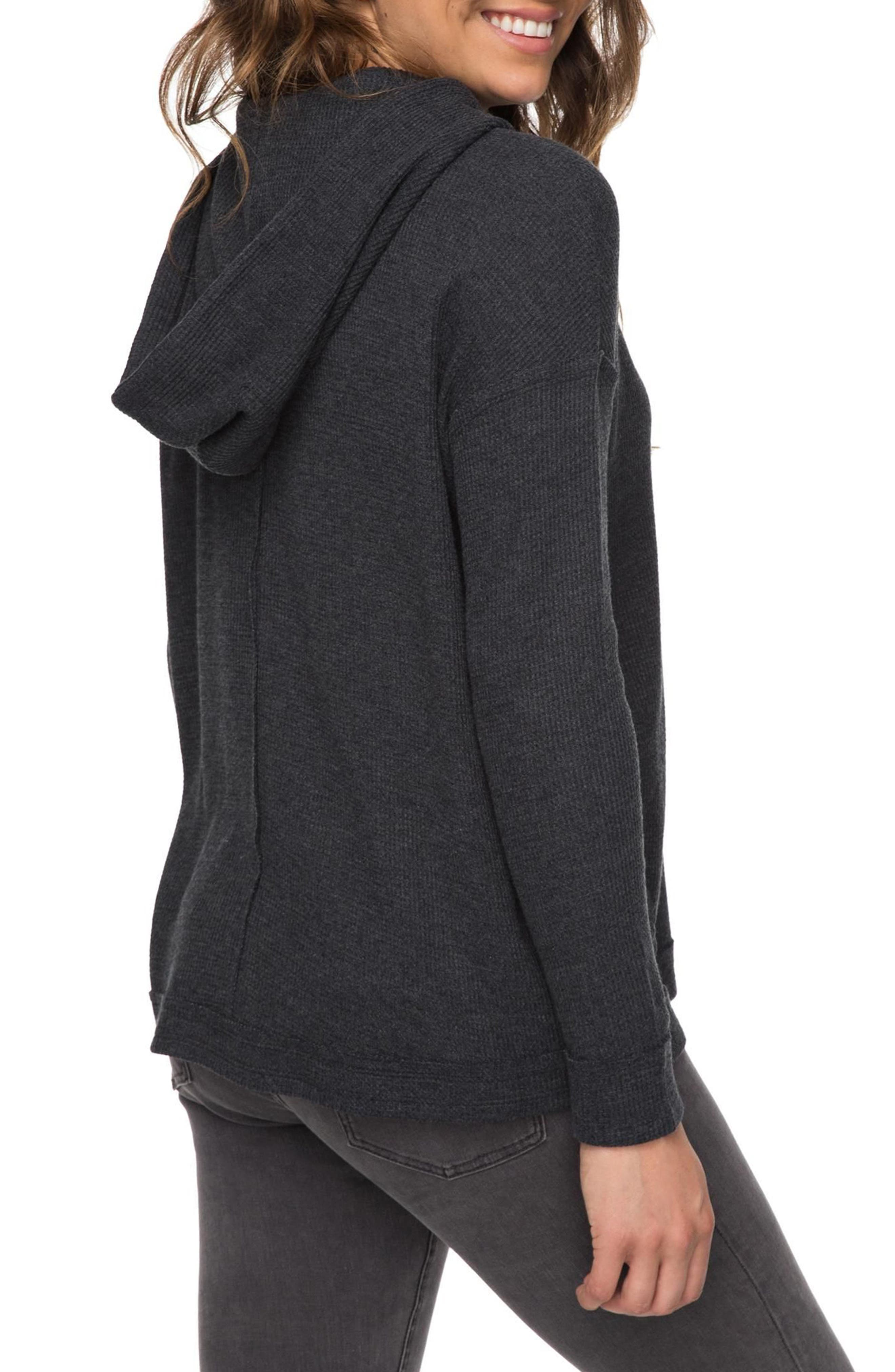 Wanted and Wild Hooded Thermal Top,                             Alternate thumbnail 3, color,                             Anthracite