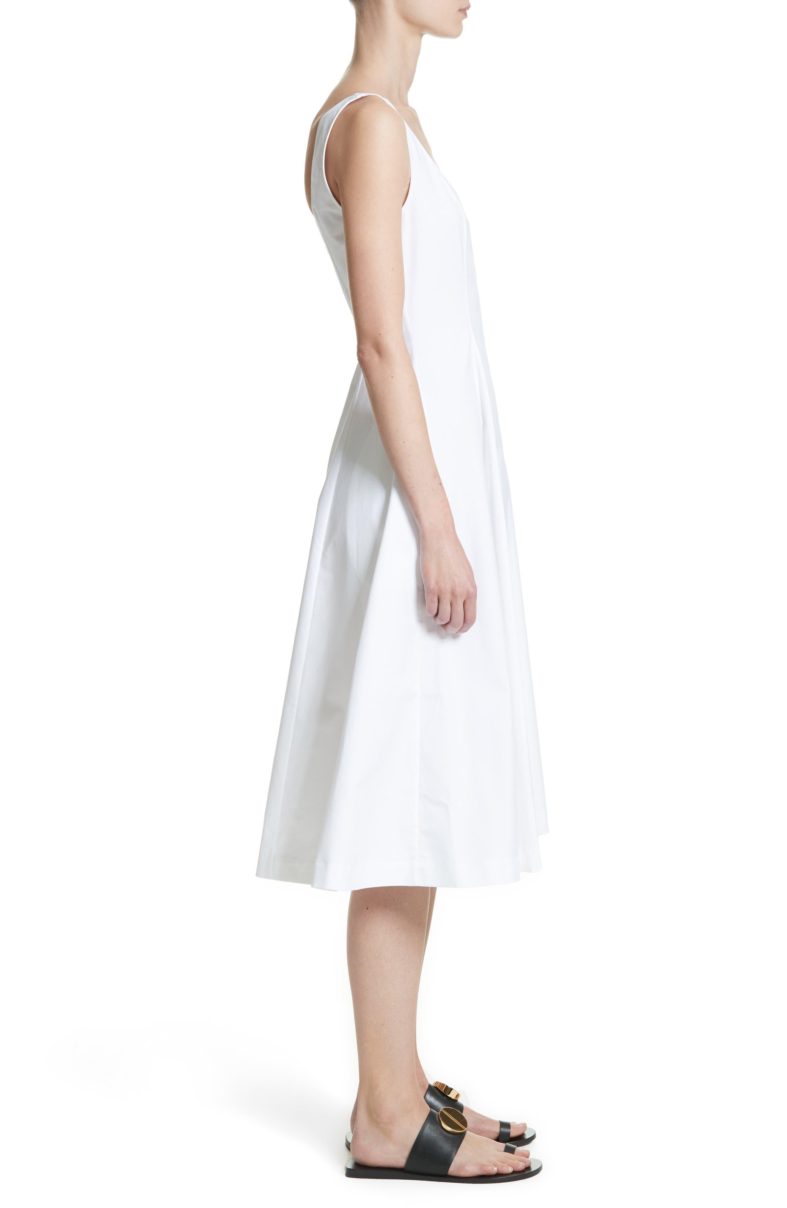 Cindy Poplin Tank Dress,                             Alternate thumbnail 3, color,                             White