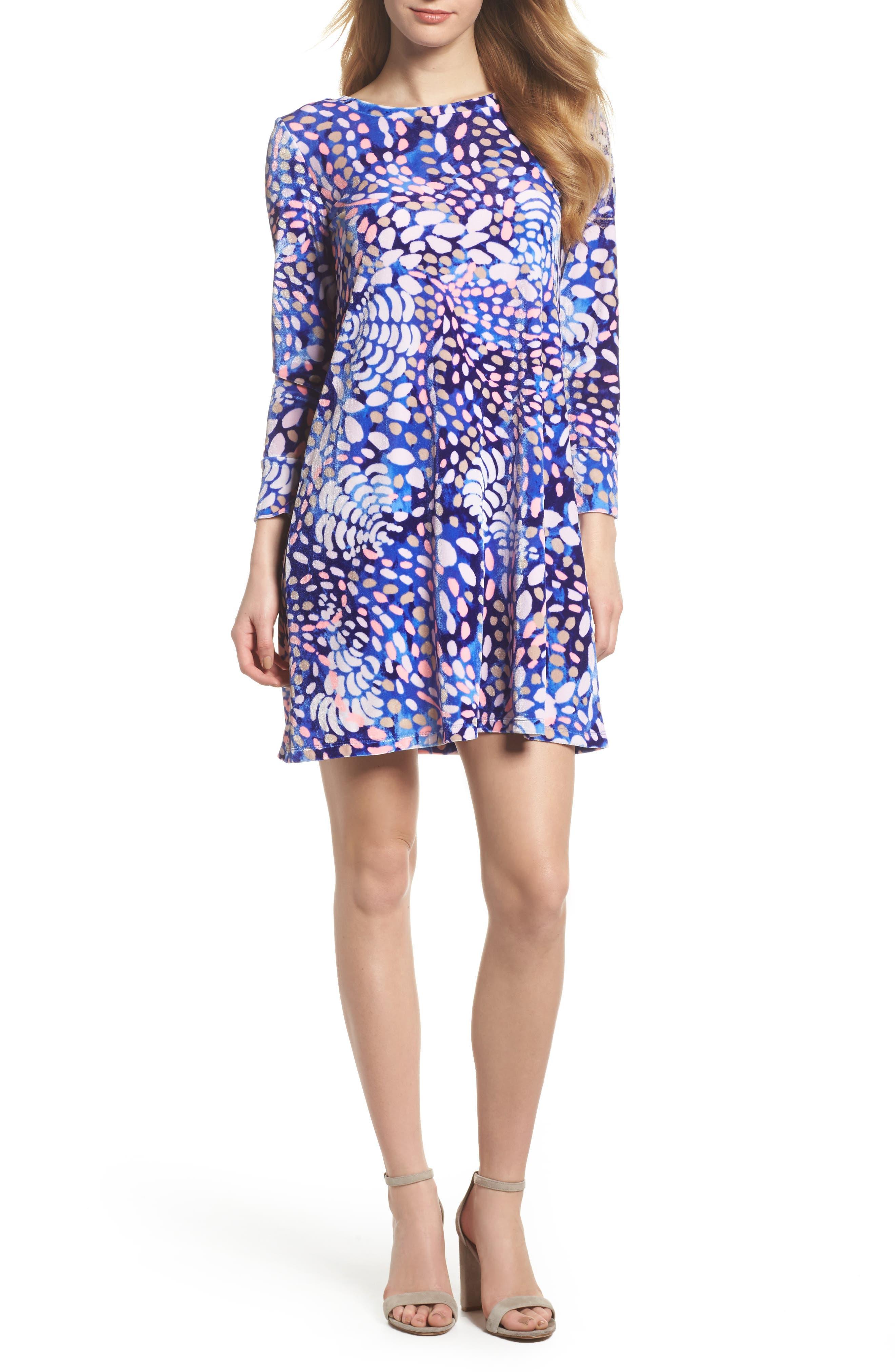 Olive Swing Dress,                         Main,                         color, Beckon Blue Sparkling Grotto