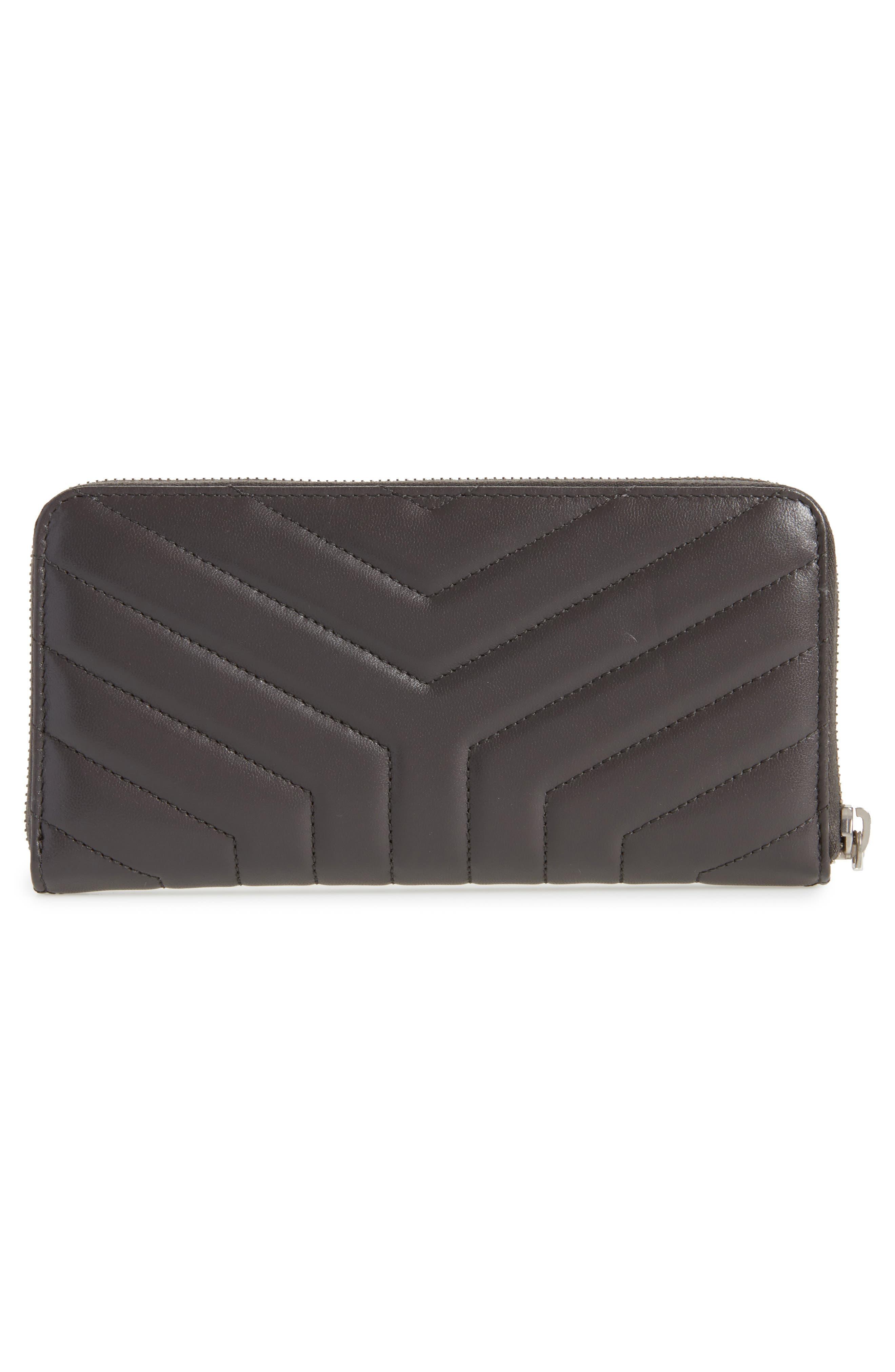 Alternate Image 4  - Saint Laurent Loulou Matelassé Leather Zip-Around Wallet