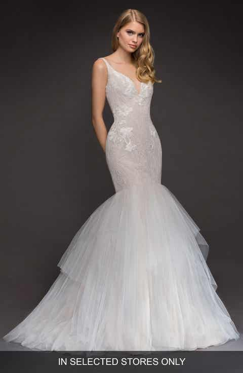 Blush By Hayley Paige Fern Lace Tulle Mermaid Gown