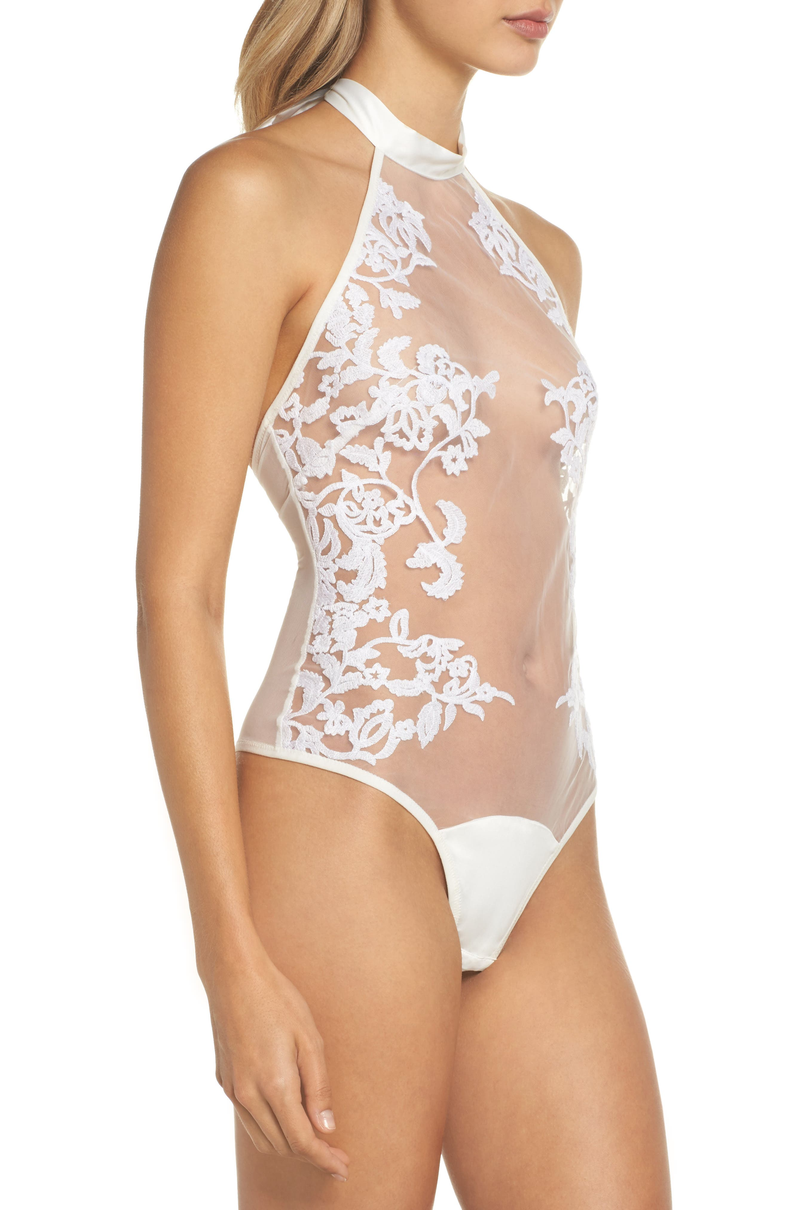 Thistle & Spire Cornelia Bodysuit,                             Alternate thumbnail 3, color,                             Ivory