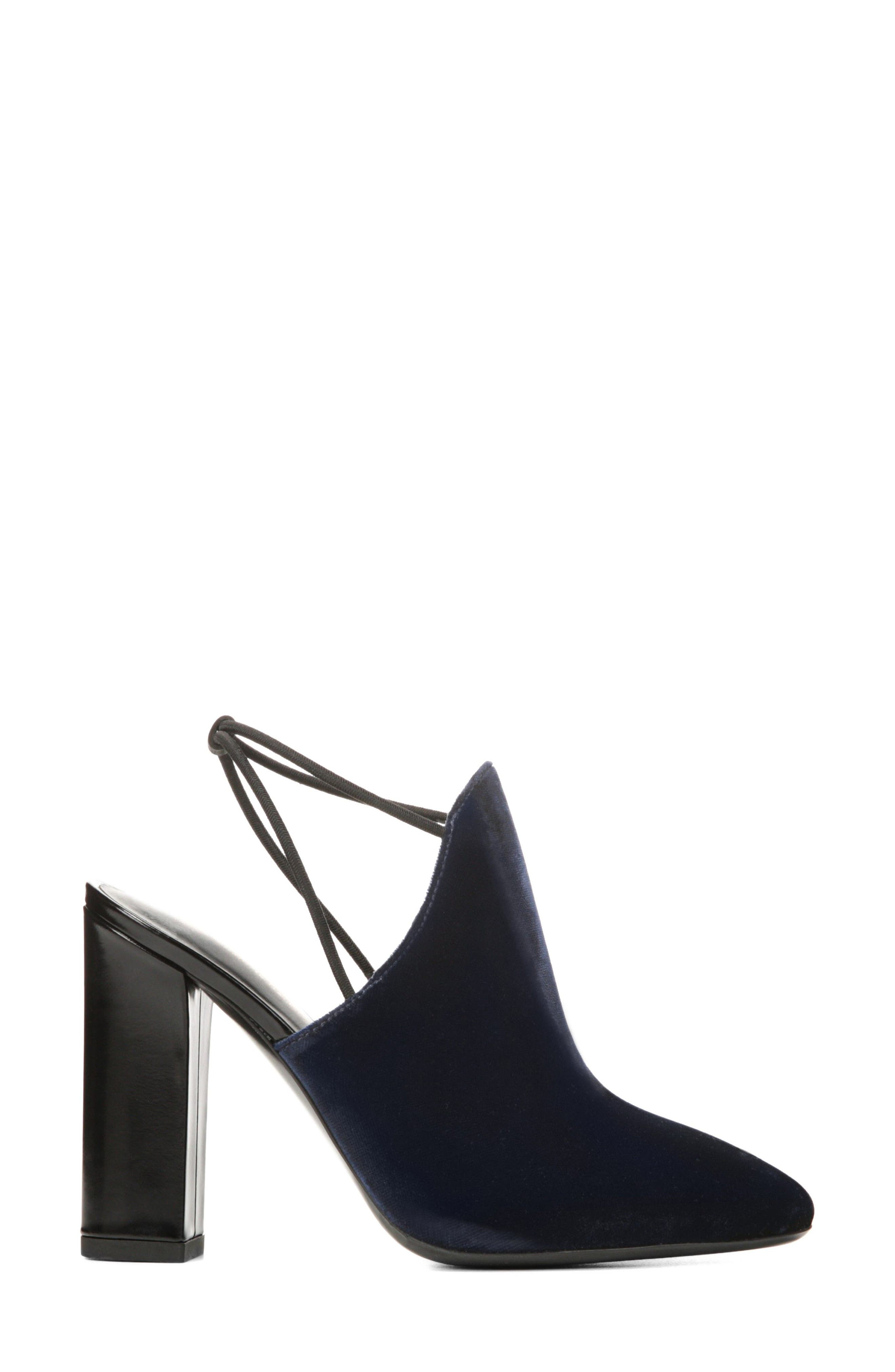 Arina Slingback Pump,                             Alternate thumbnail 3, color,                             Midnight Fabric