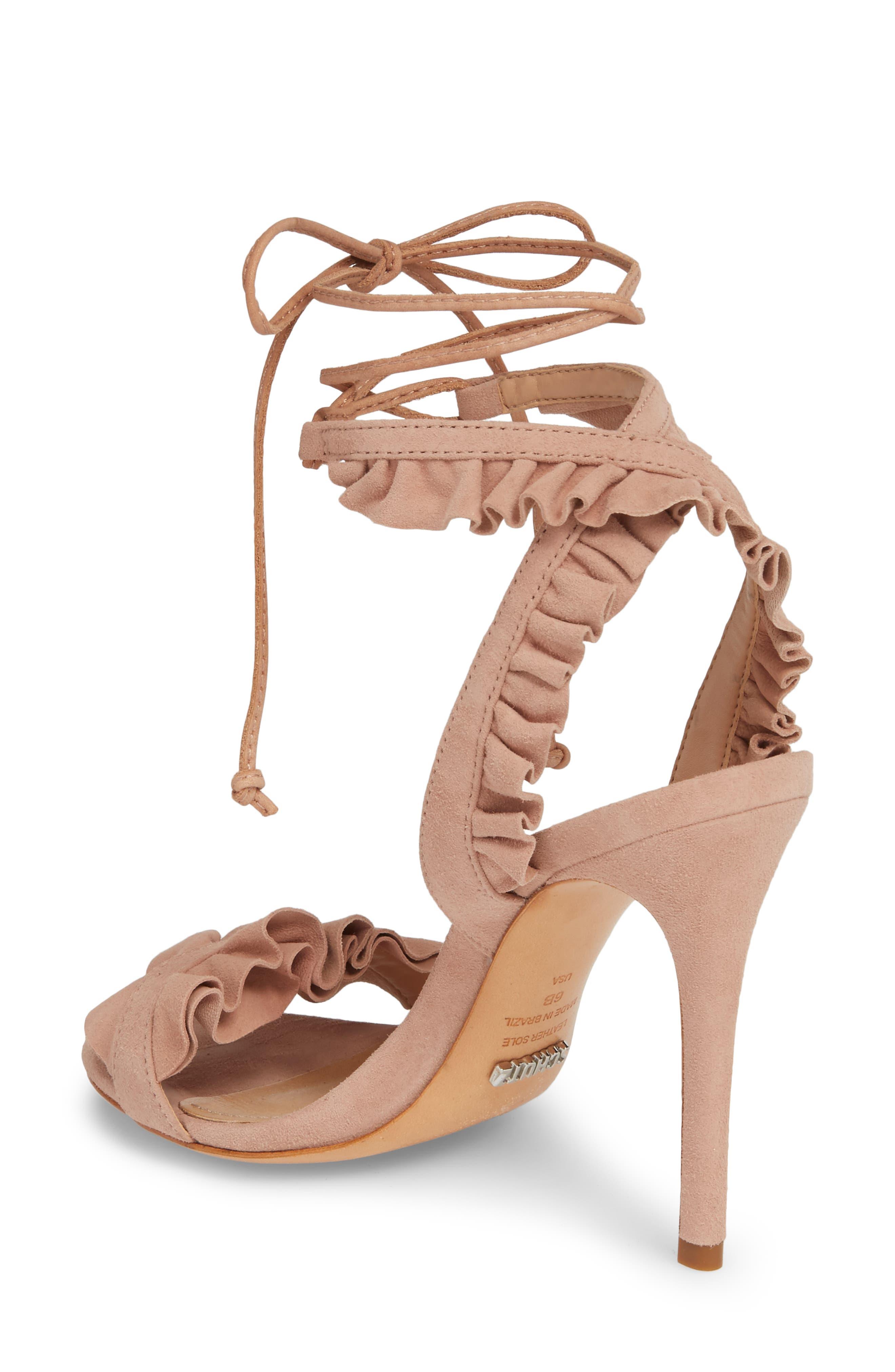 Irem Lace-UP Sandal,                             Alternate thumbnail 2, color,                             Peach Suede