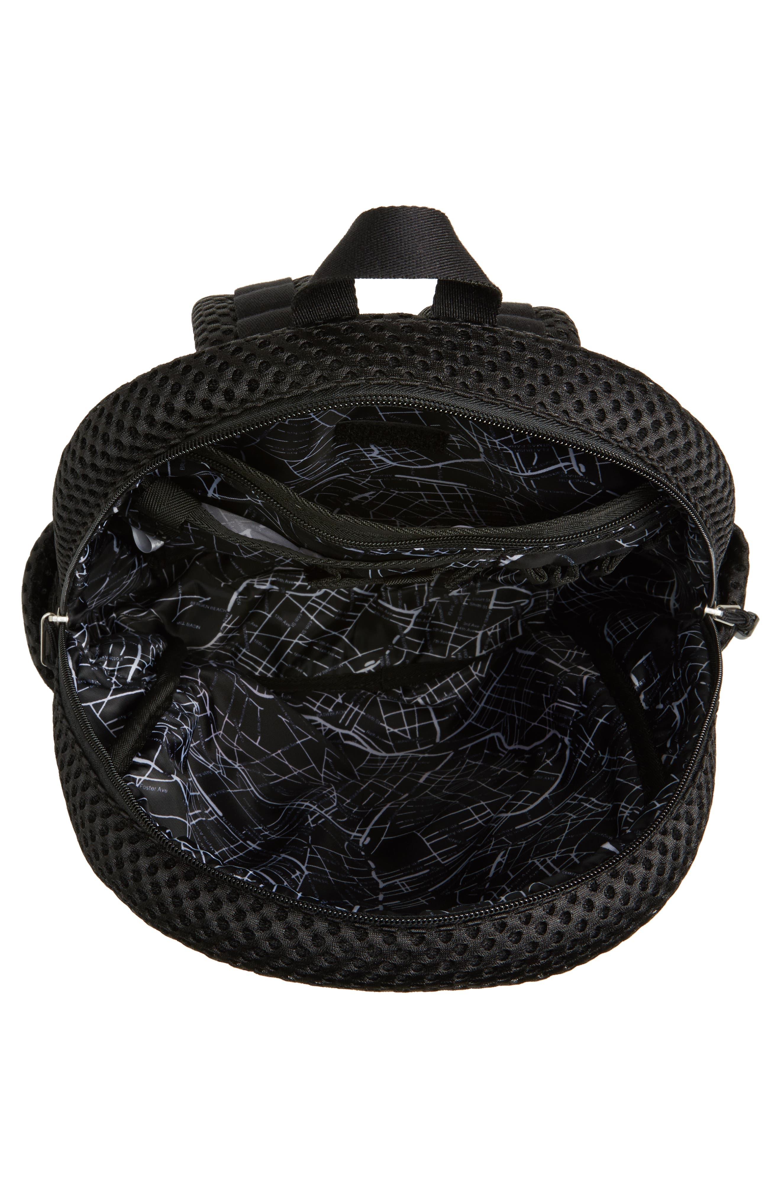 Lacrosse Mesh Kane Backpack,                             Alternate thumbnail 4, color,                             Black