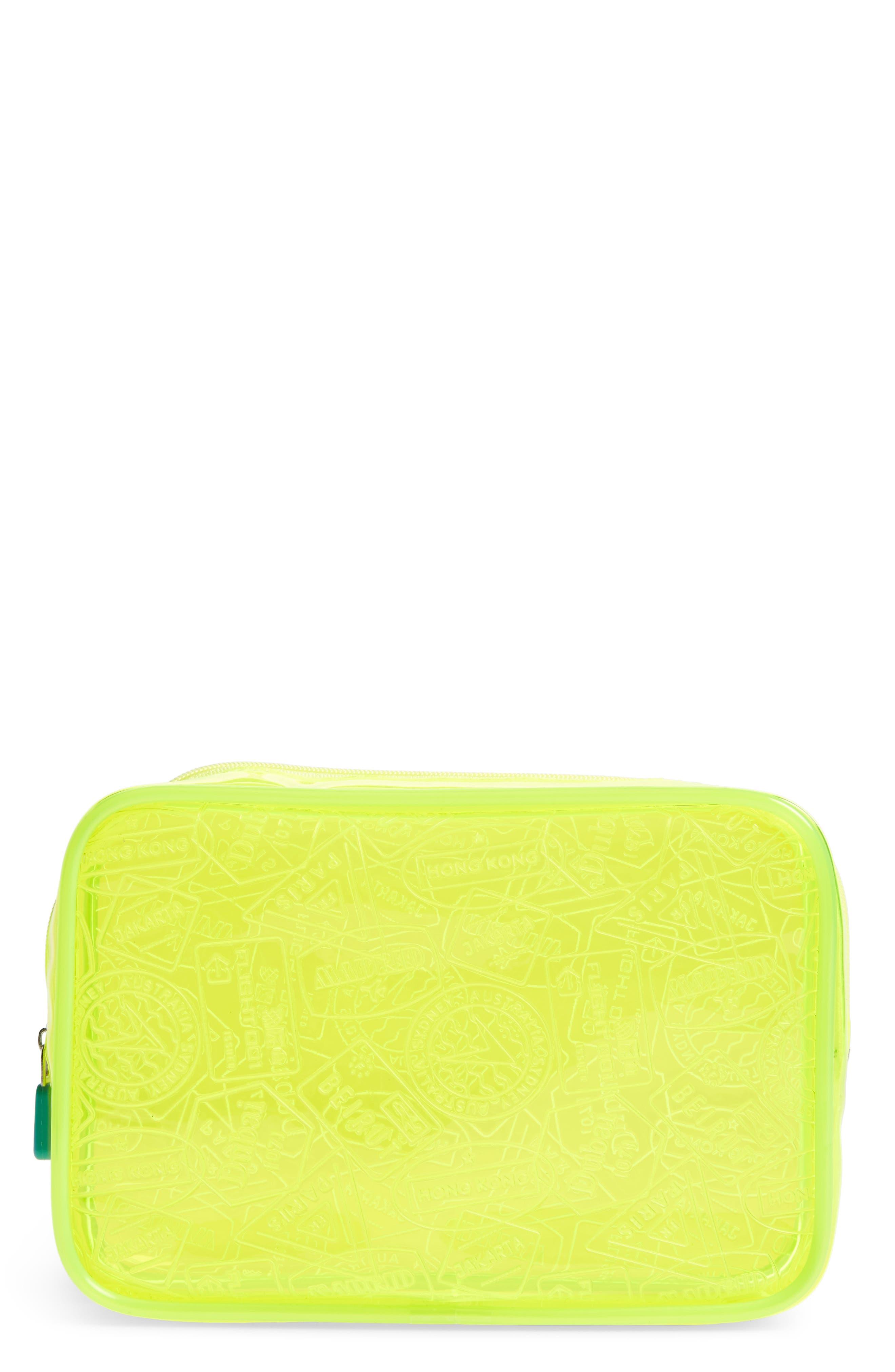 Flight 001 'X-Ray' Neon Quart Bag