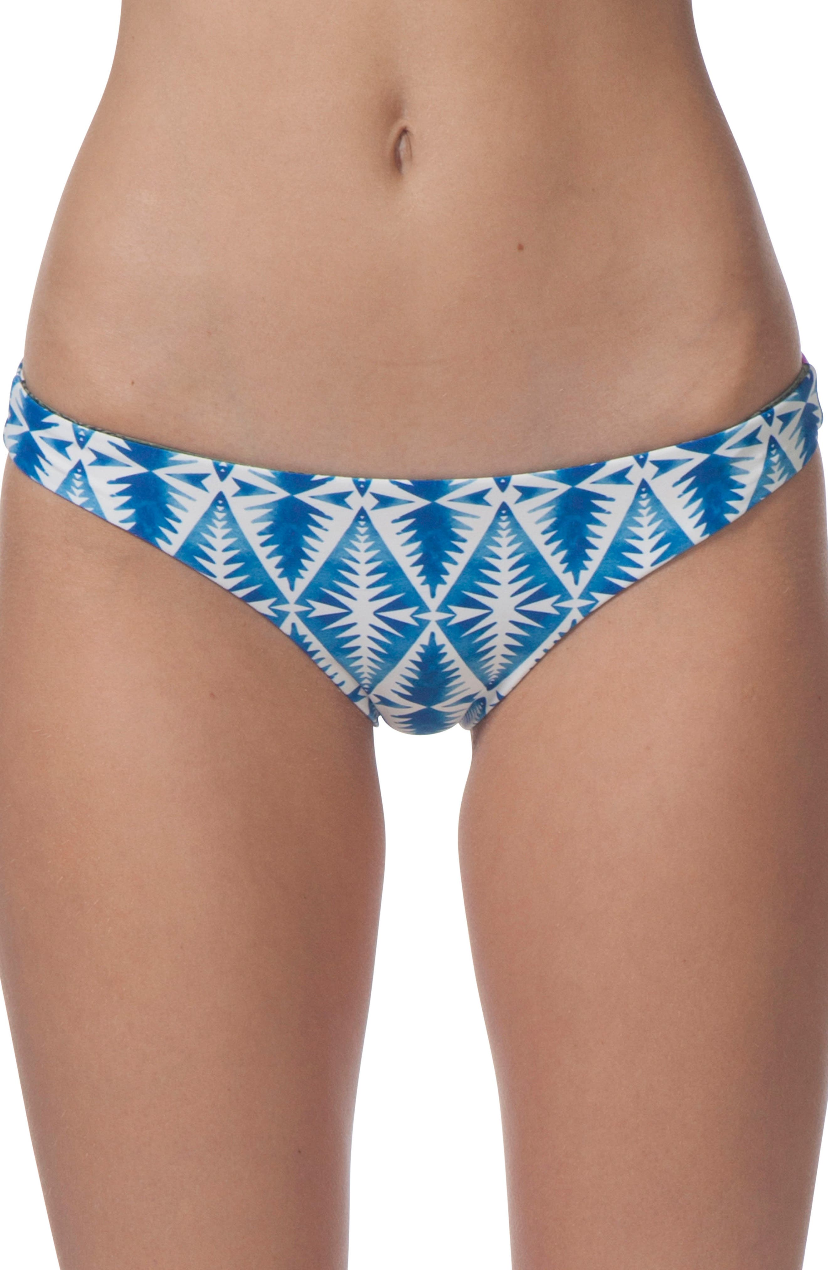 Beach Bazaar Reversible Hipster Bikini Bottoms,                         Main,                         color, Blue