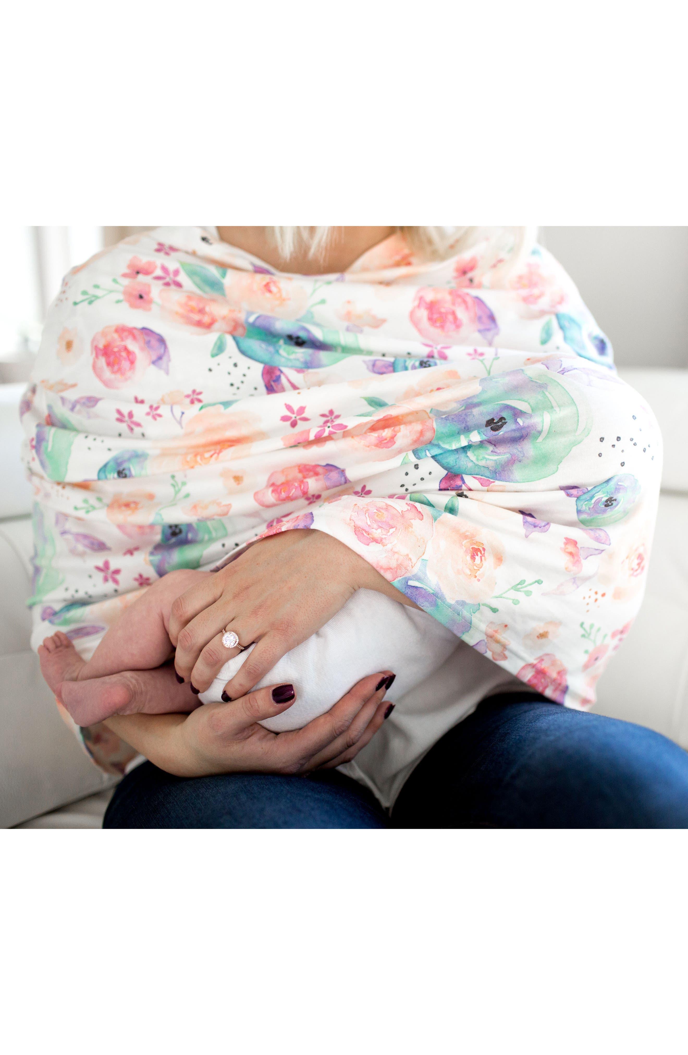 Bloom Multiuse Cover & Swaddle Blanket Gift Set,                             Alternate thumbnail 13, color,                             Bloom