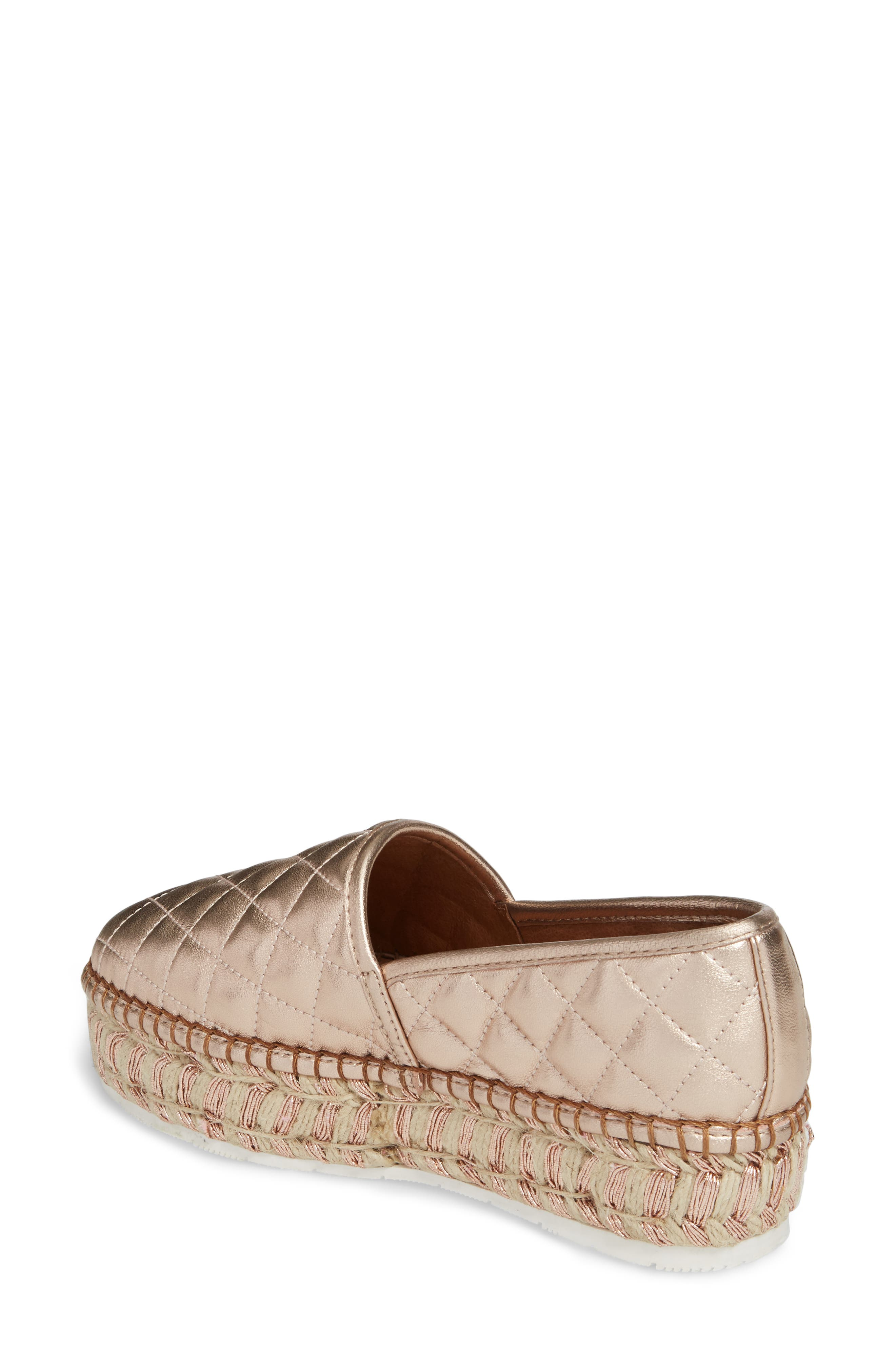 Alternate Image 2  - JSlides Renata Quilted Slip-On Platform Flat (Women)