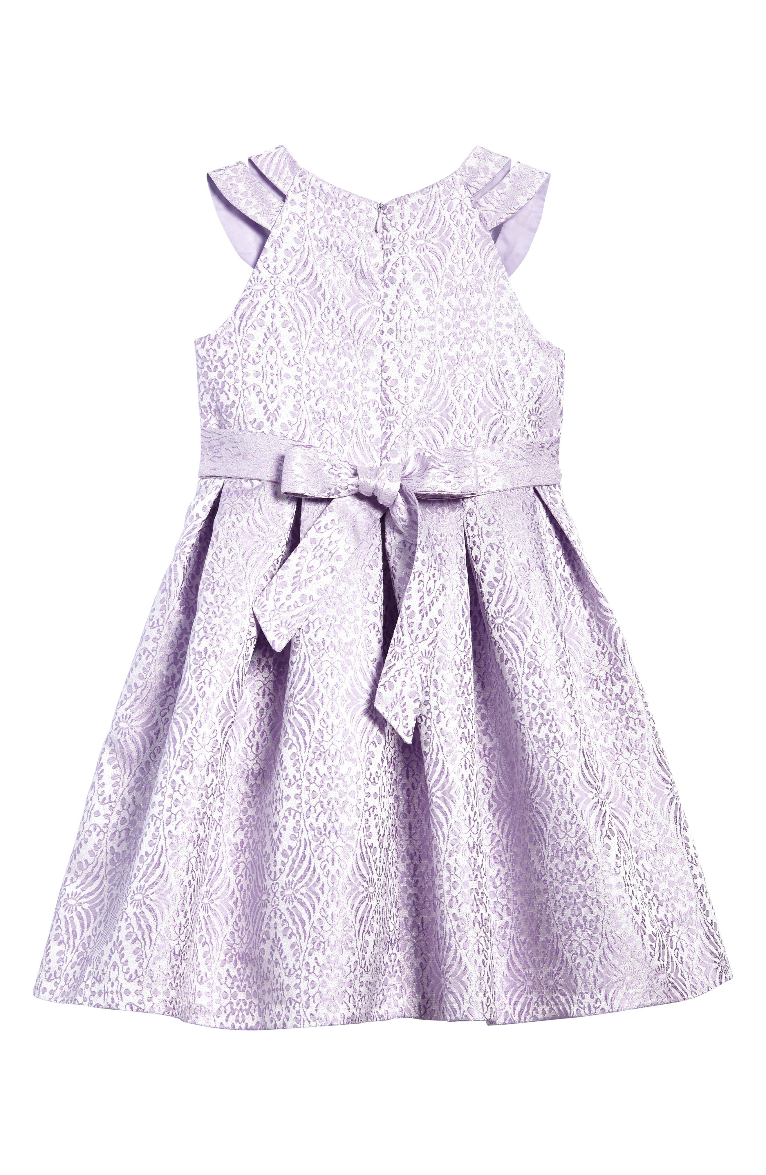 Jacquard Fit & Flare Dress,                             Alternate thumbnail 2, color,                             Lavendar