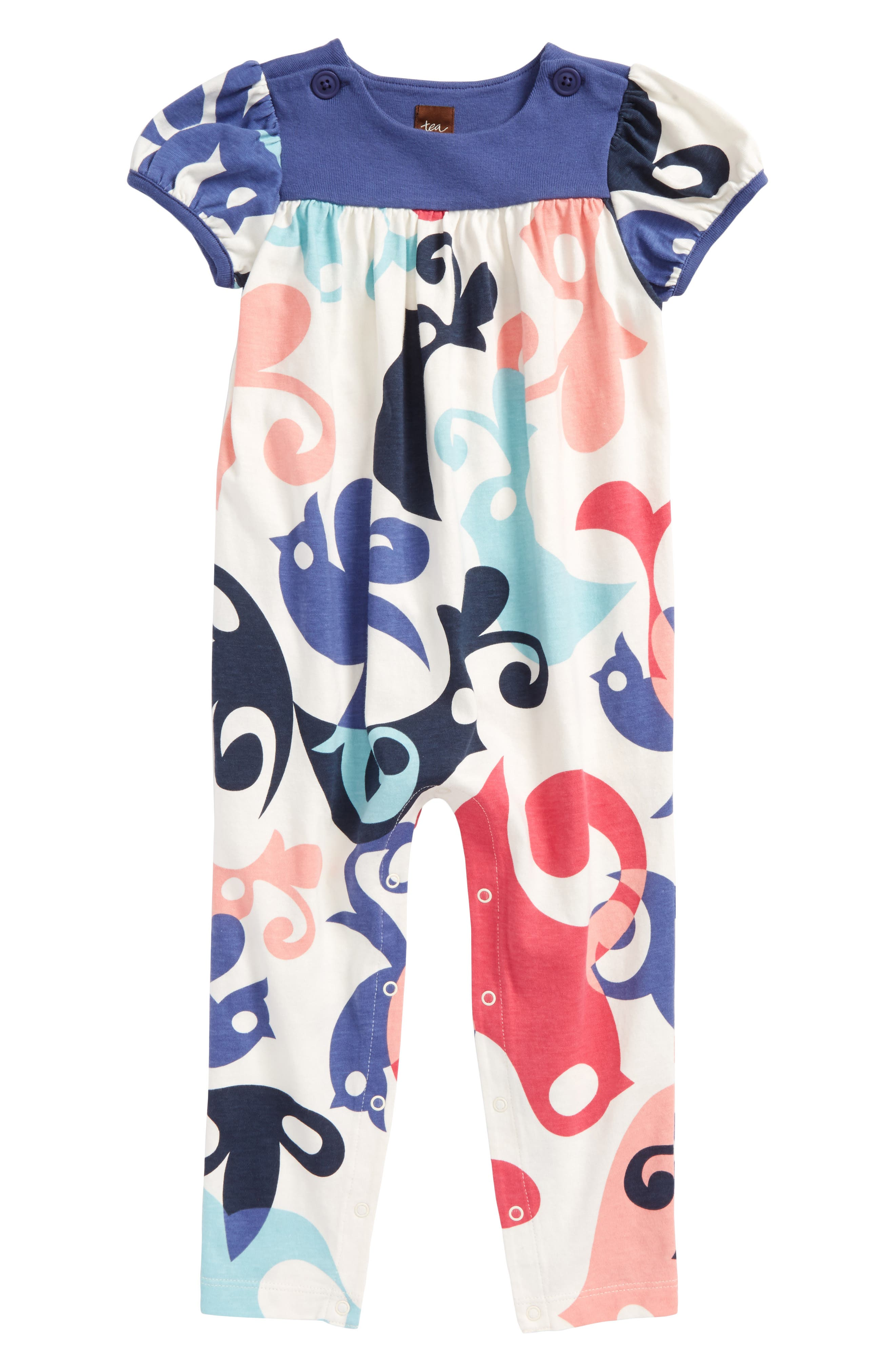 Main Image - Tea Collection Print Romper (Baby Girls)