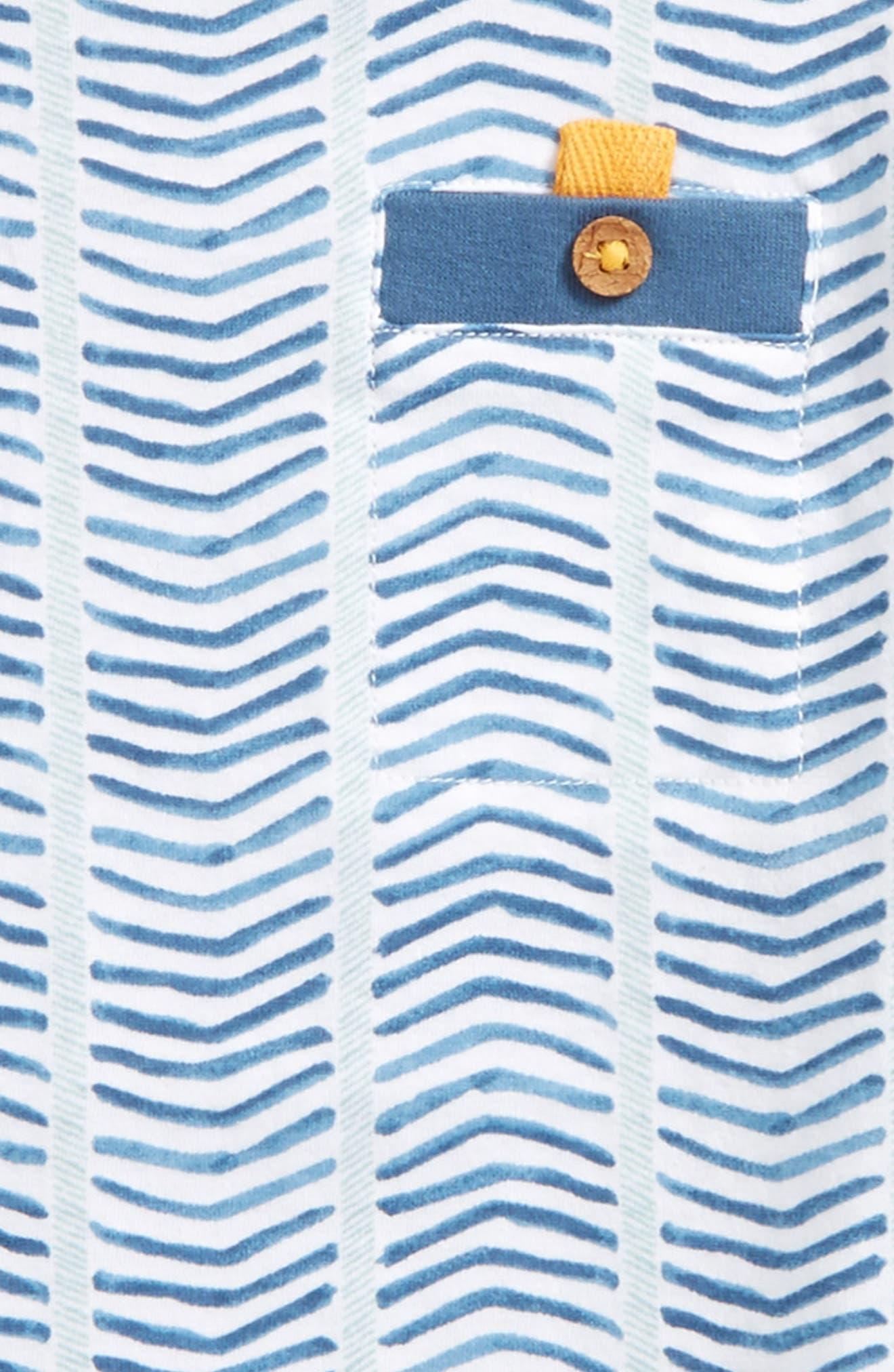 Alternate Image 2  - Burt's Bees Baby Chevron Stripe Organic Cotton T-Shirt (Toddler Boys & Little Boys)