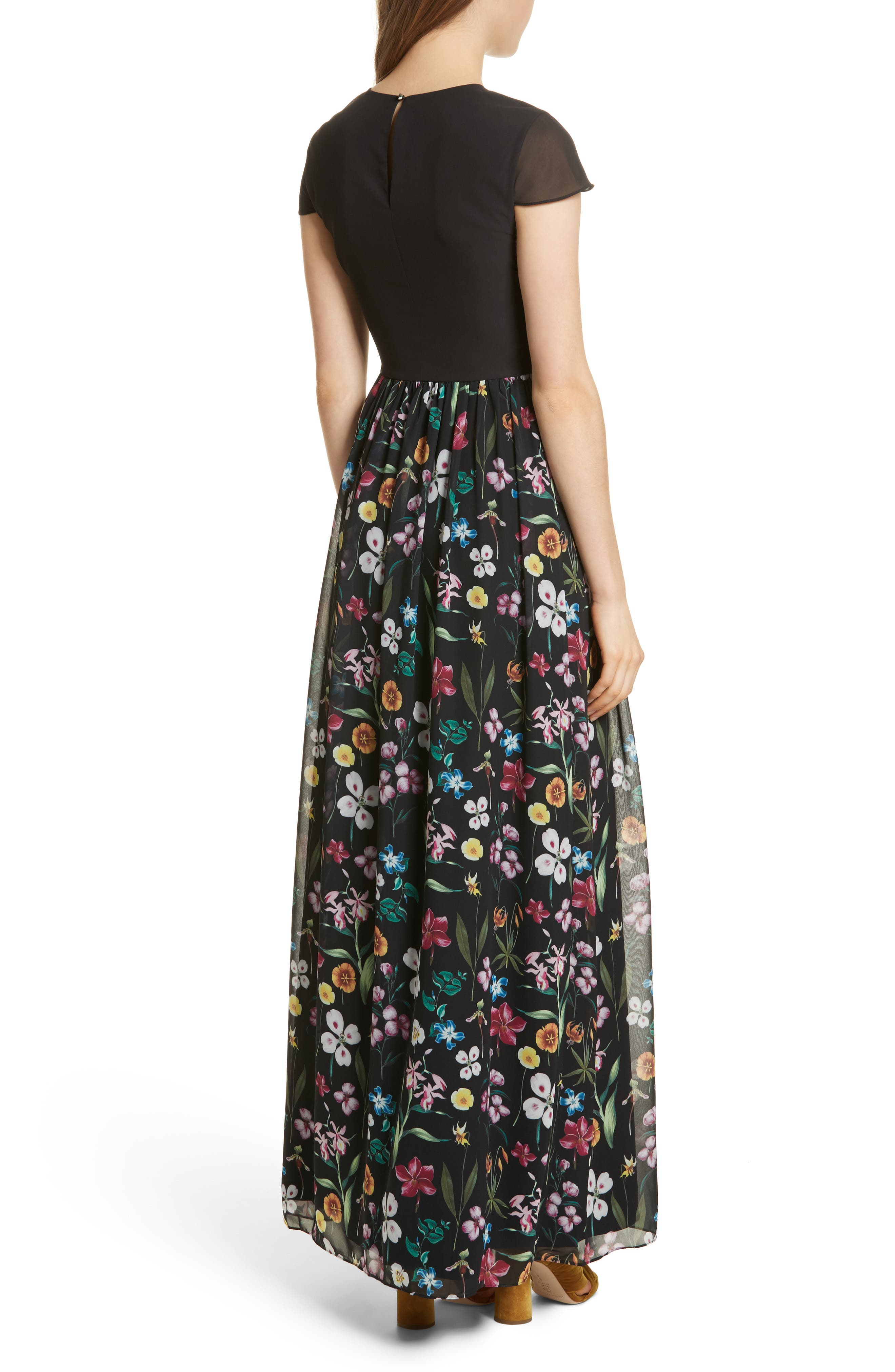 Hampton Maxi Dress,                             Alternate thumbnail 2, color,                             Black