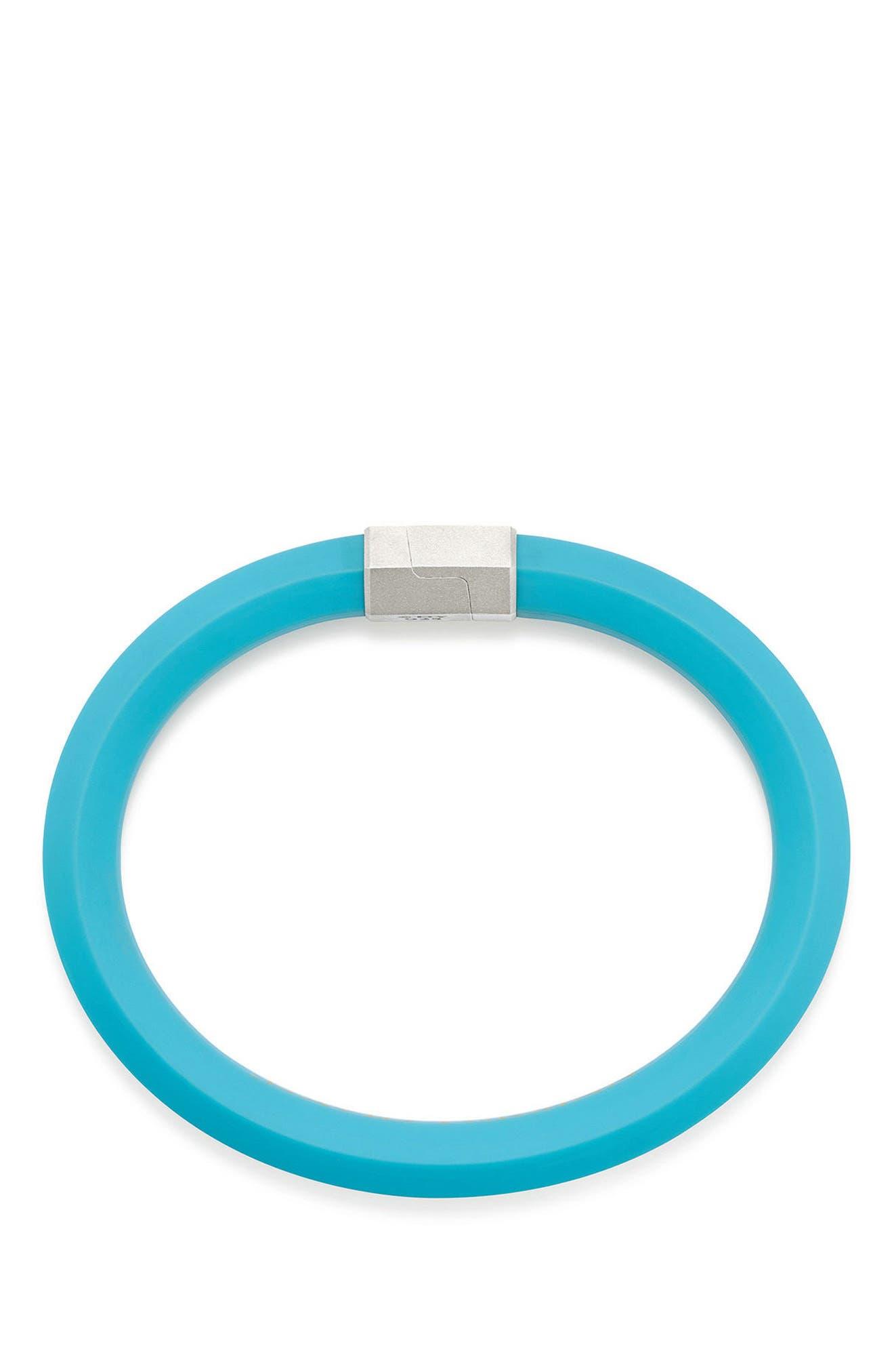 10.5mm Hex Bracelet,                             Alternate thumbnail 2, color,                             Teal