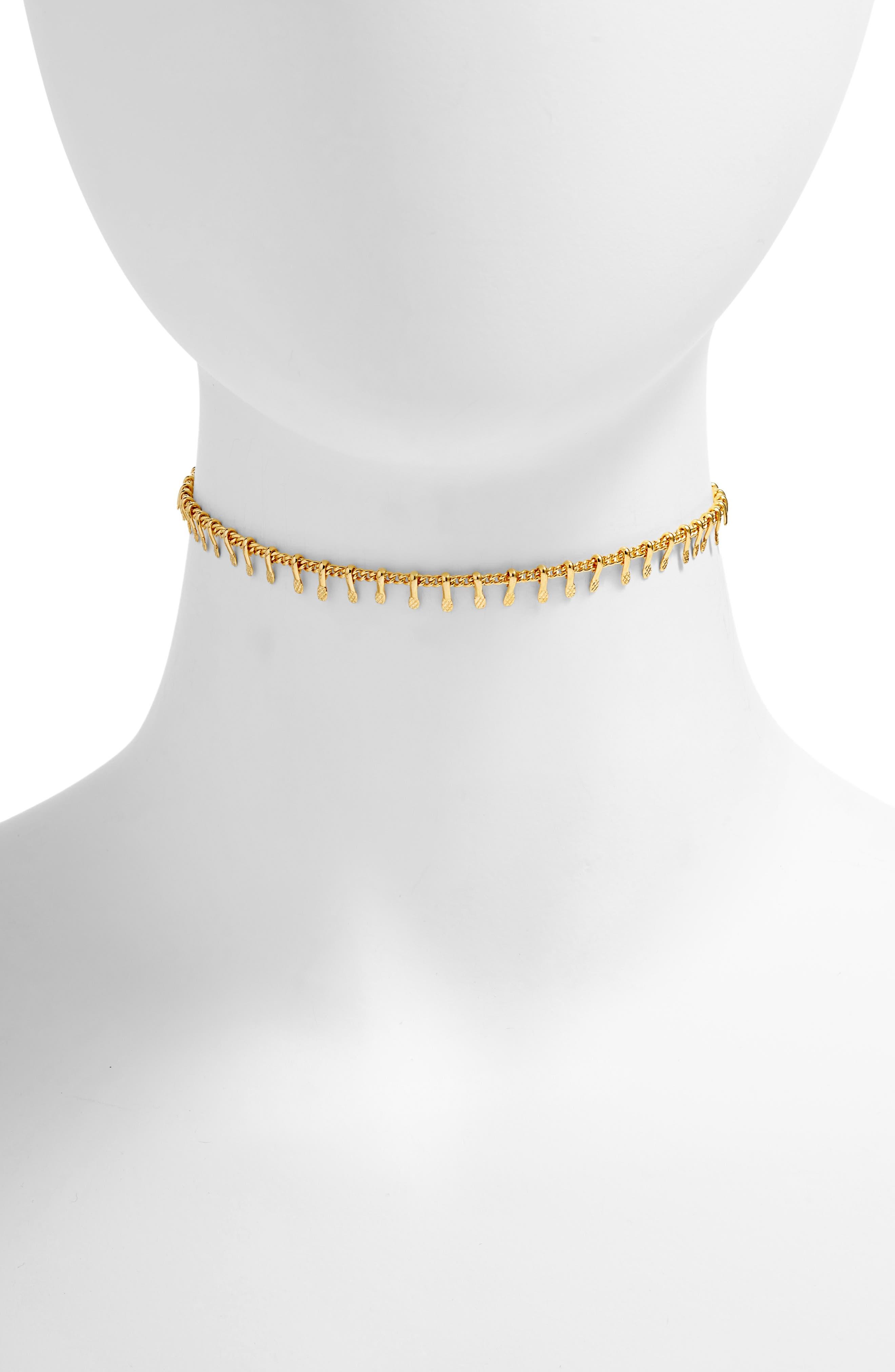 Natalie Choker Necklace,                         Main,                         color, Gold