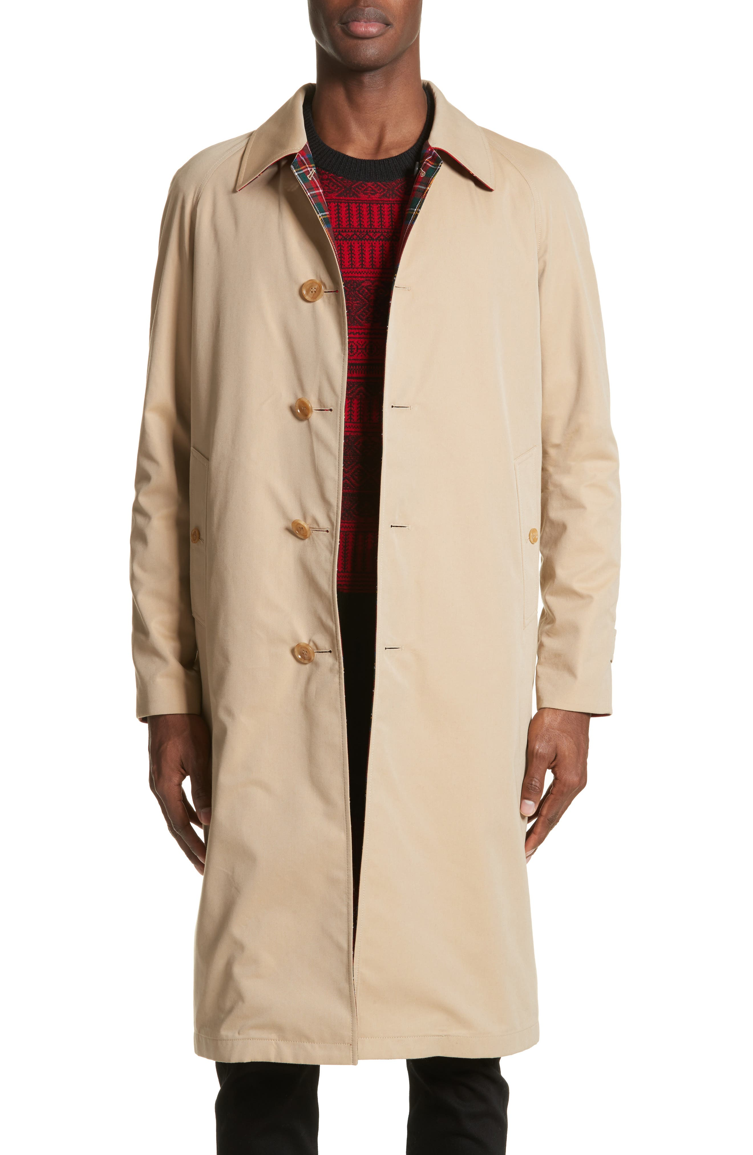 Alternate Image 1 Selected - Burberry Hollins Reversible Topcoat