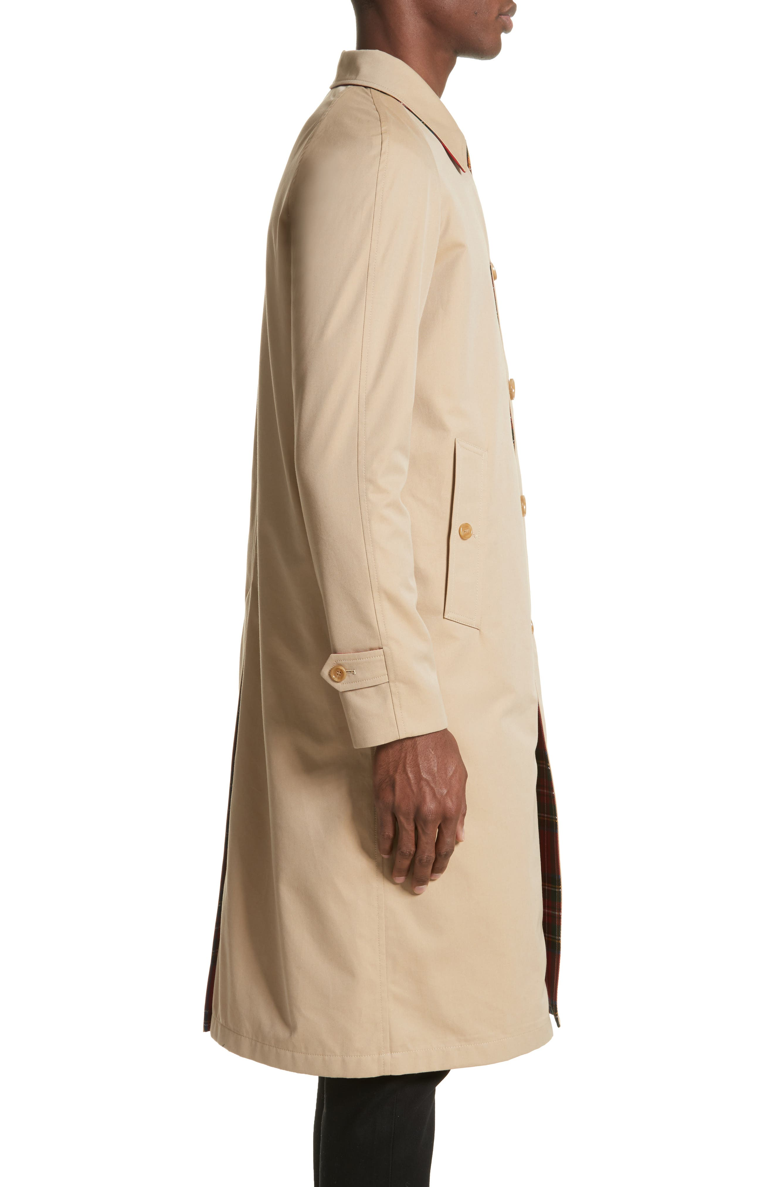 Alternate Image 4  - Burberry Hollins Reversible Topcoat