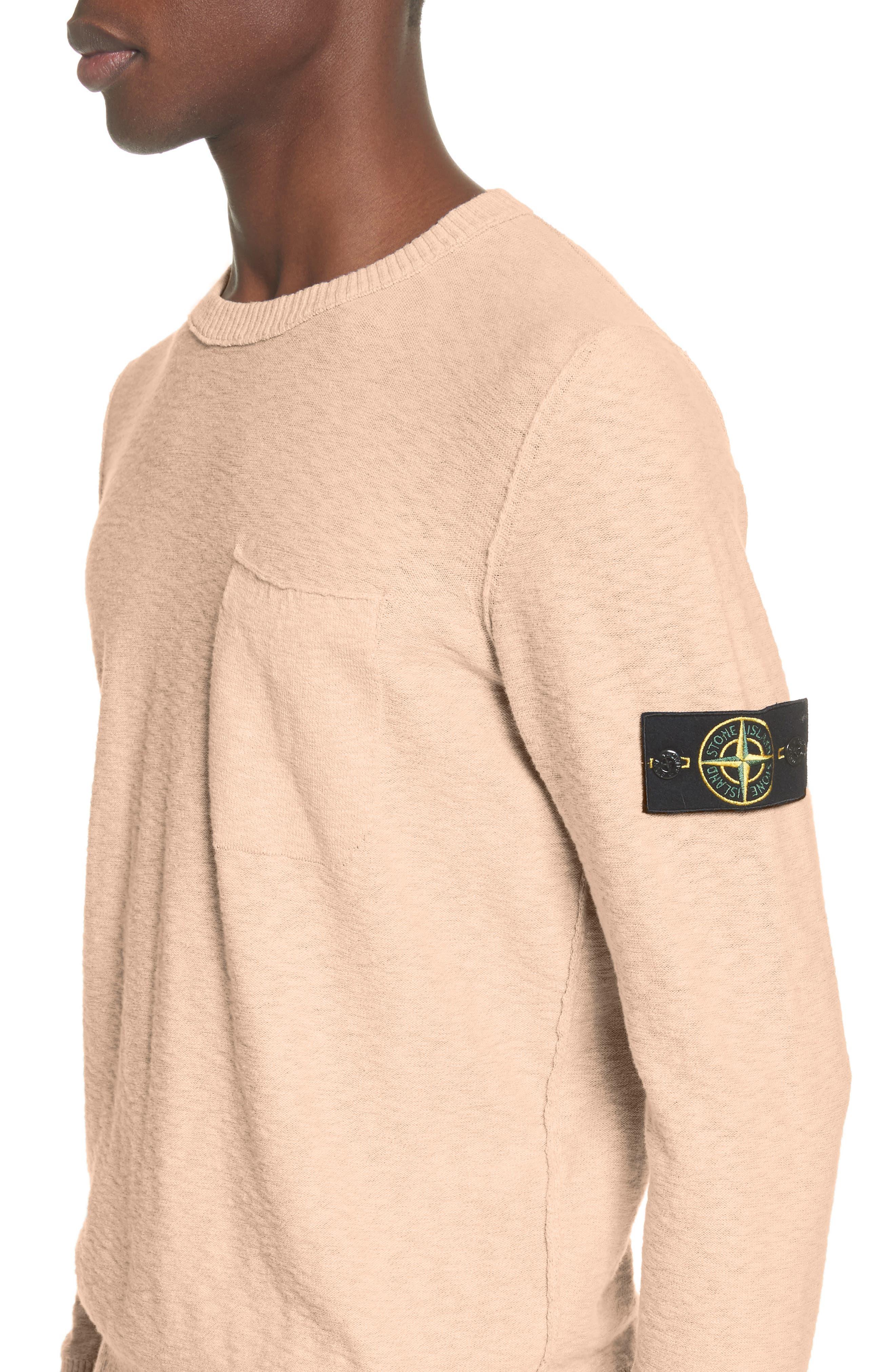 Garment Dyed Cotton Blend Sweatshirt,                             Alternate thumbnail 4, color,                             Coral