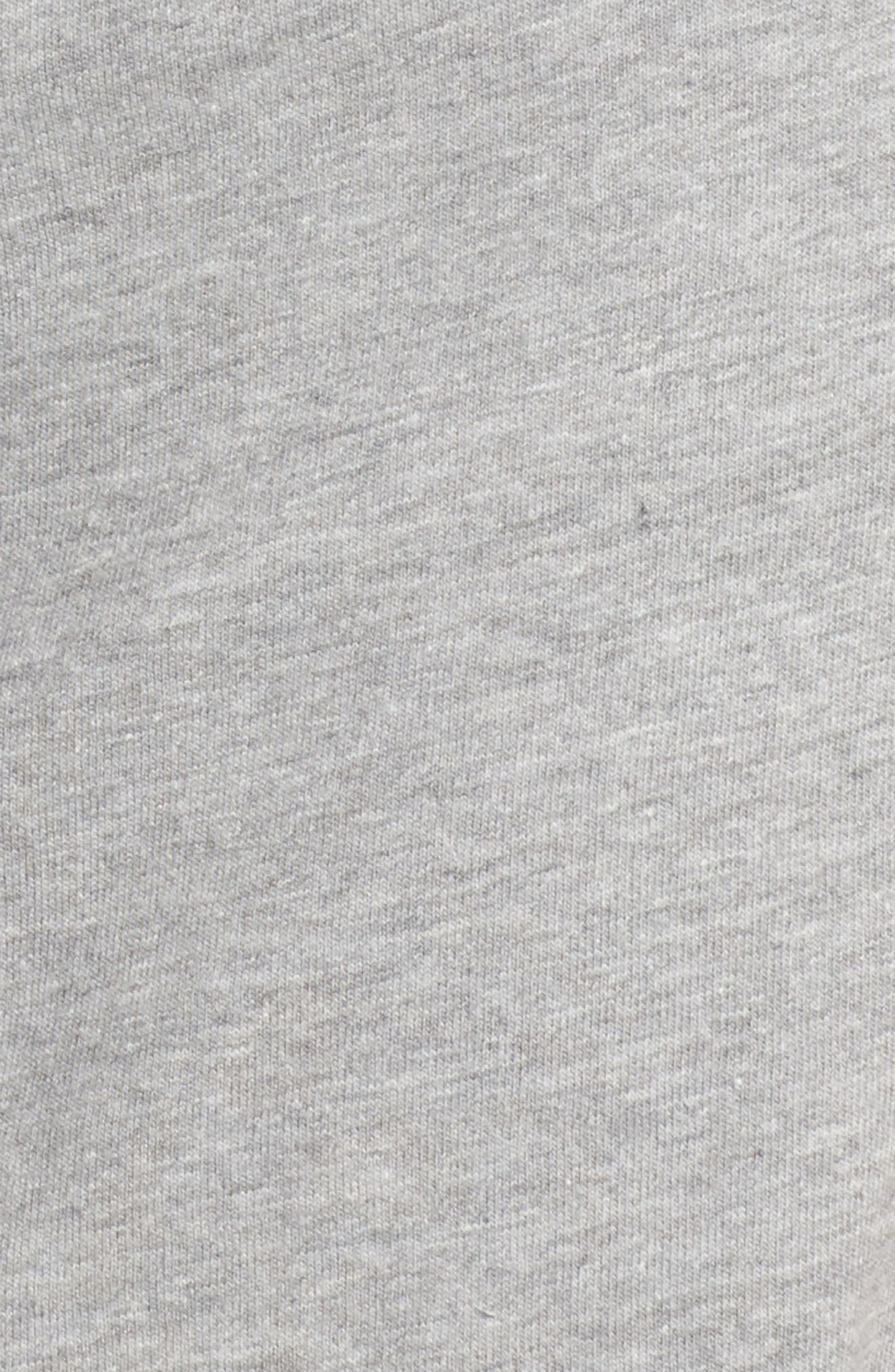 Tie Waist T-Shirt Dress,                             Alternate thumbnail 5, color,                             Heather Grey