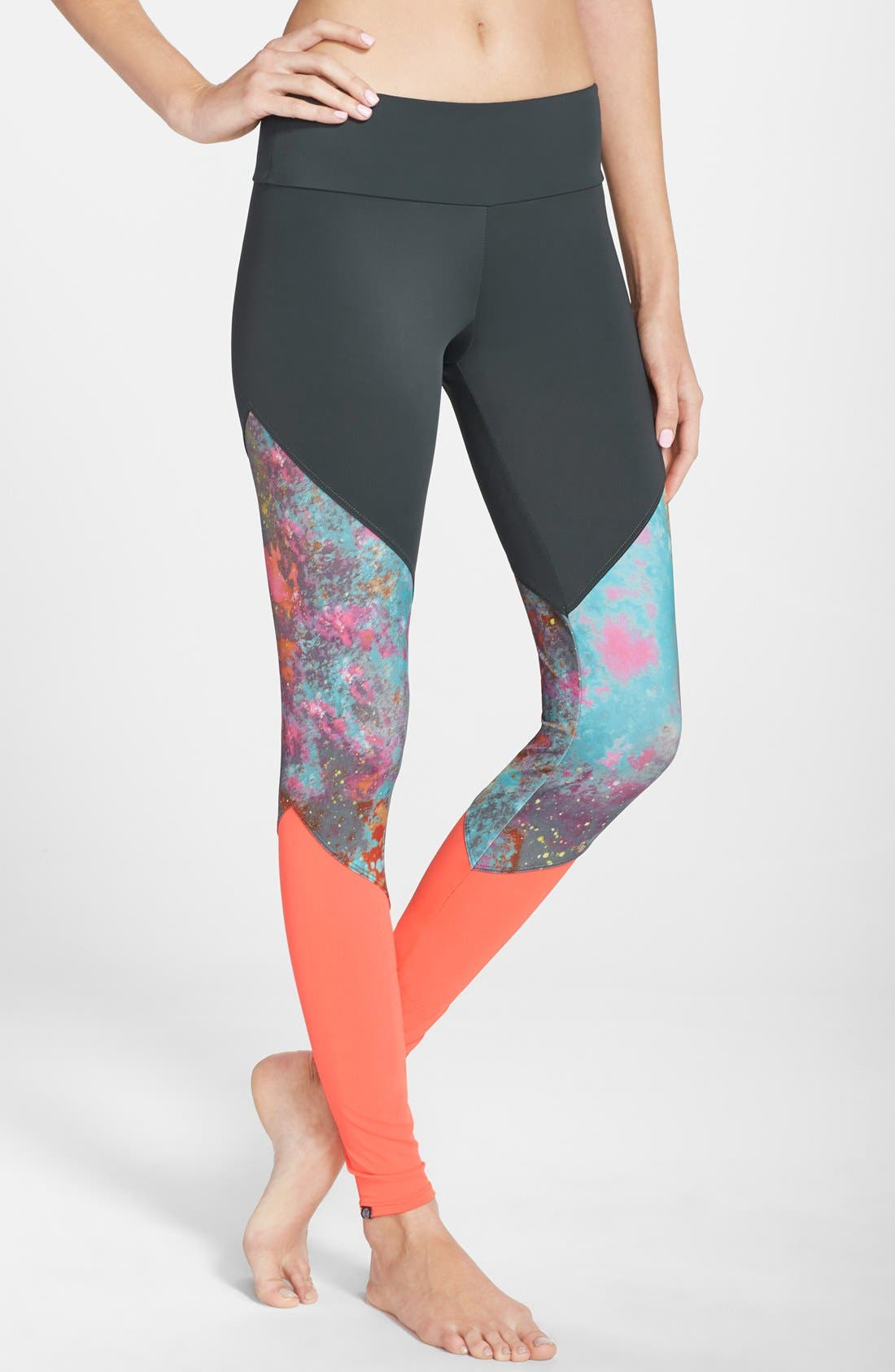 Colorblock Track Leggings,                         Main,                         color, Nemo