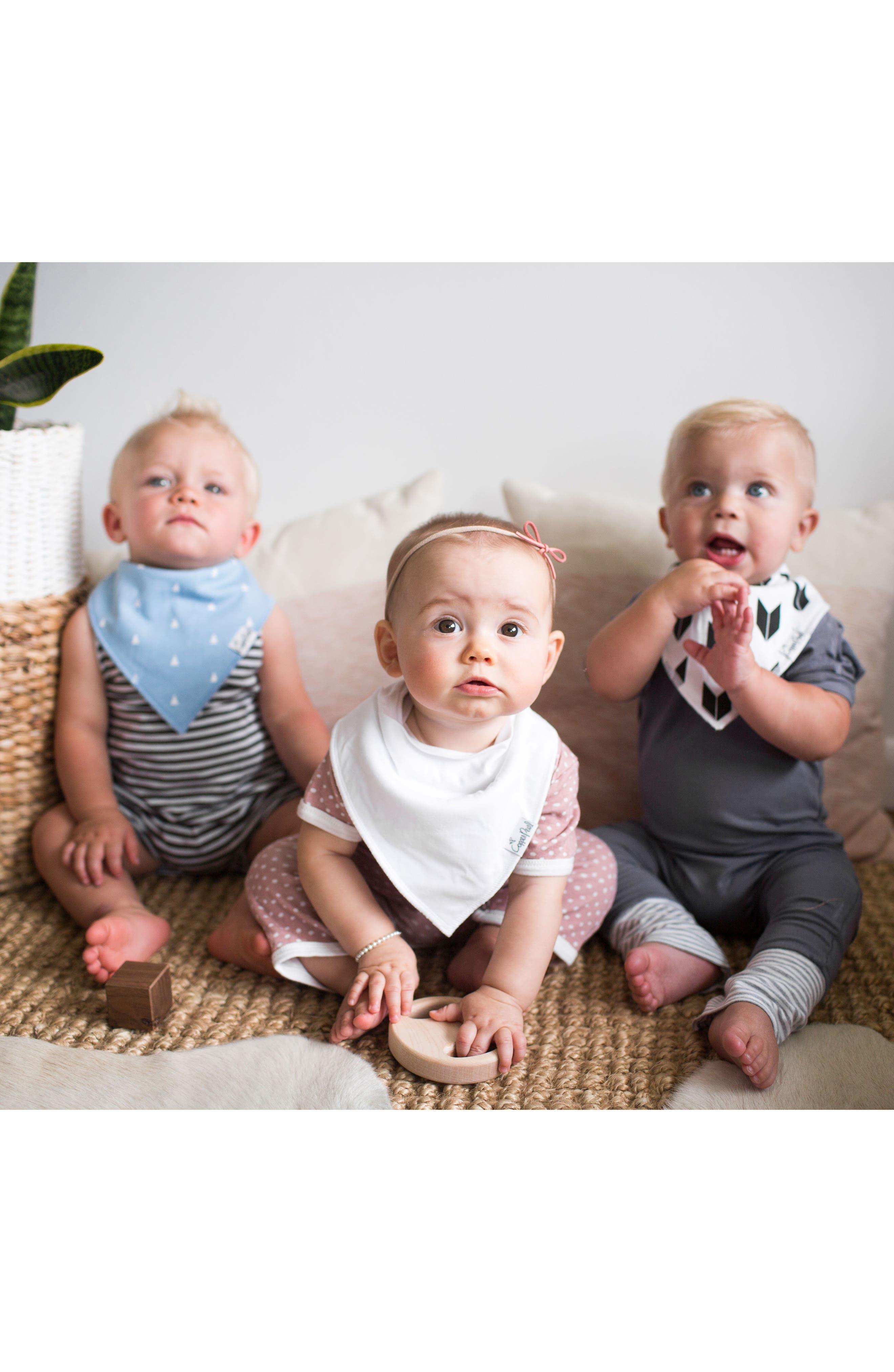 Alternate Image 22  - Copper Pearl Shade Bib, Burp Cloth & Swaddle Blanket Gift Set