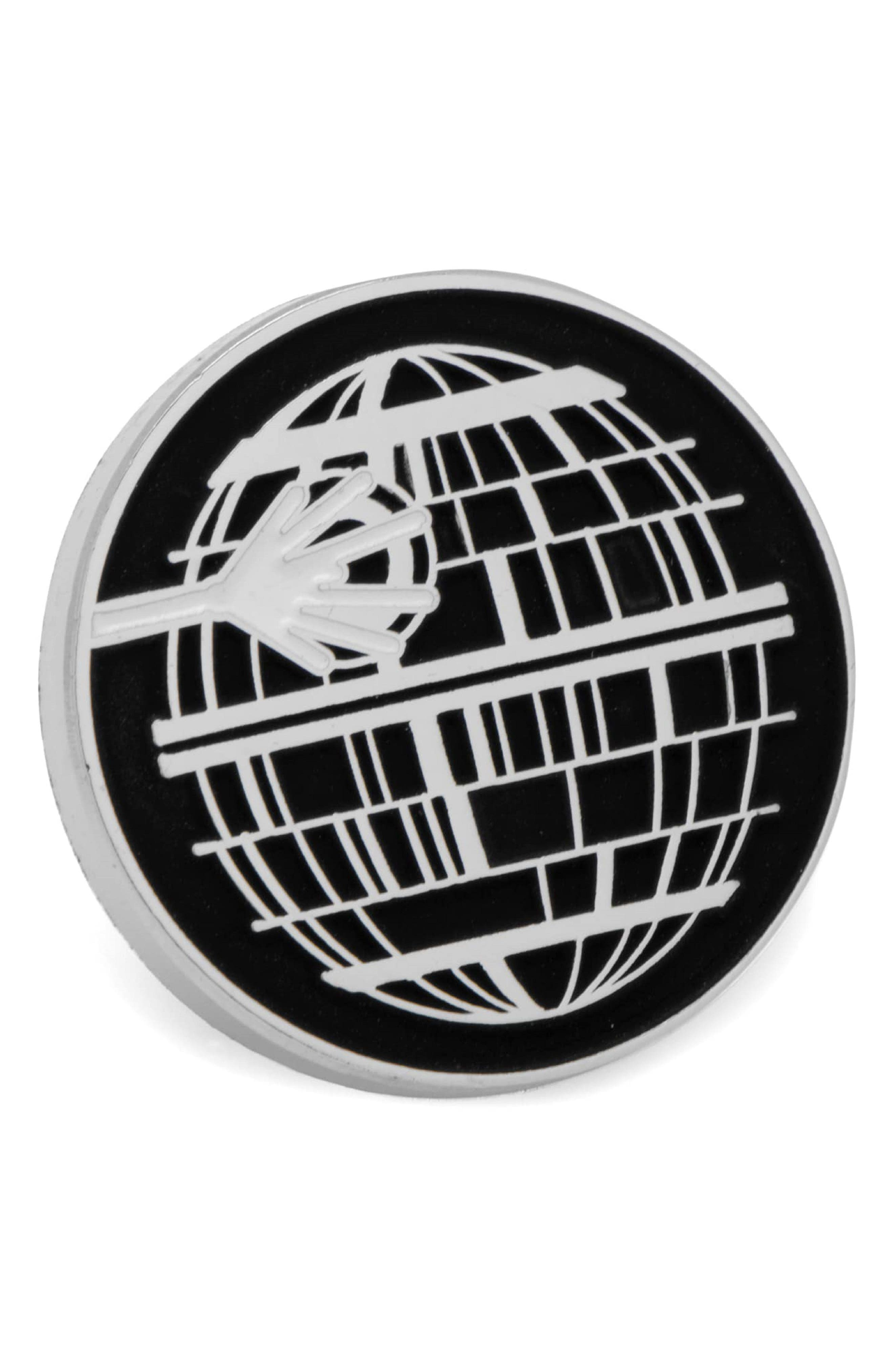 Star Wars<sup>™</sup> - Death Star Lapel Pin,                             Main thumbnail 1, color,                             Silver