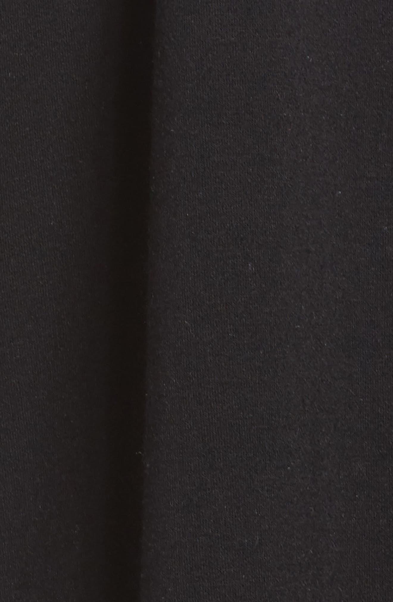 Love & Fleece Split-Back Hooded Cardigan,                             Alternate thumbnail 6, color,                             Black