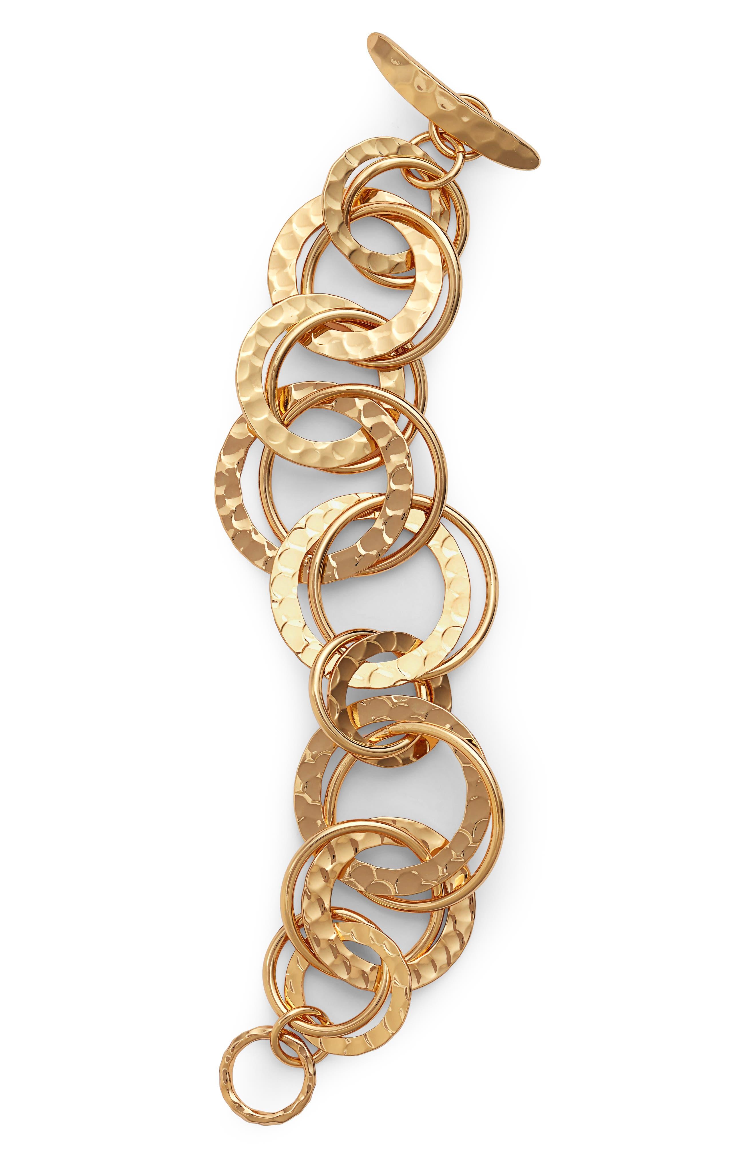 Multi Ring Bracelet,                             Main thumbnail 1, color,                             Gold