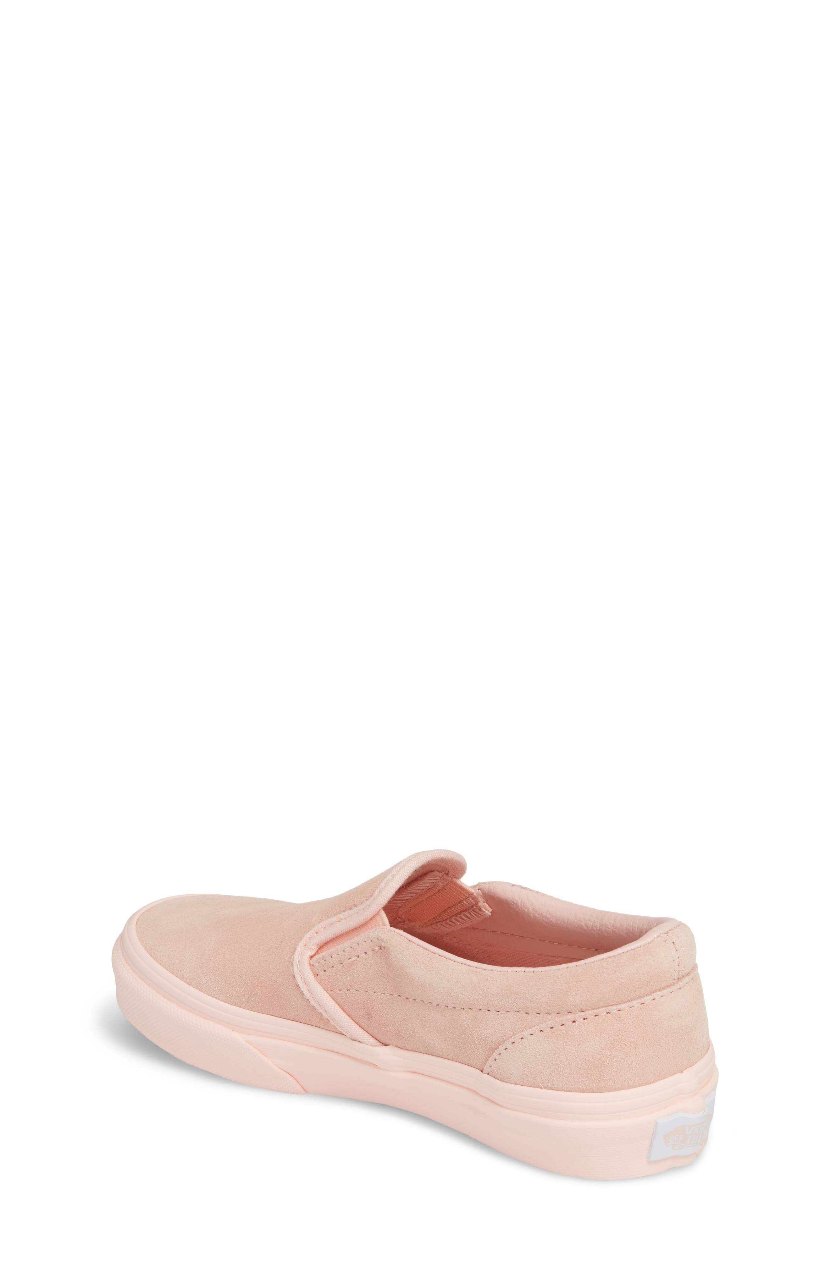 Classic Slip-On Sneaker,                             Alternate thumbnail 2, color,                             Suede Mono/ English Rose