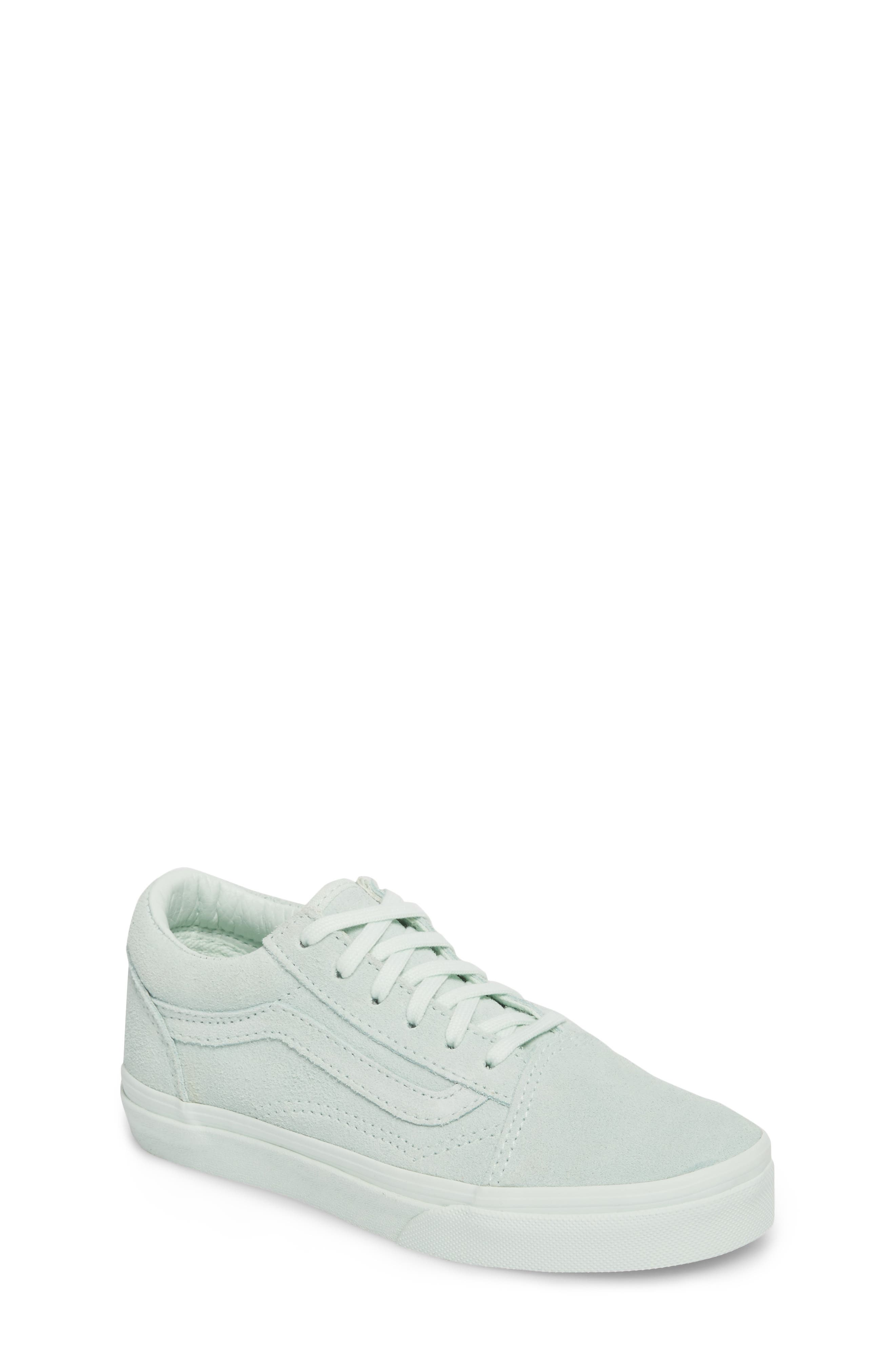 Old Skool Low Top Sneaker,                         Main,                         color, Suede Mono/ Aqua Glass