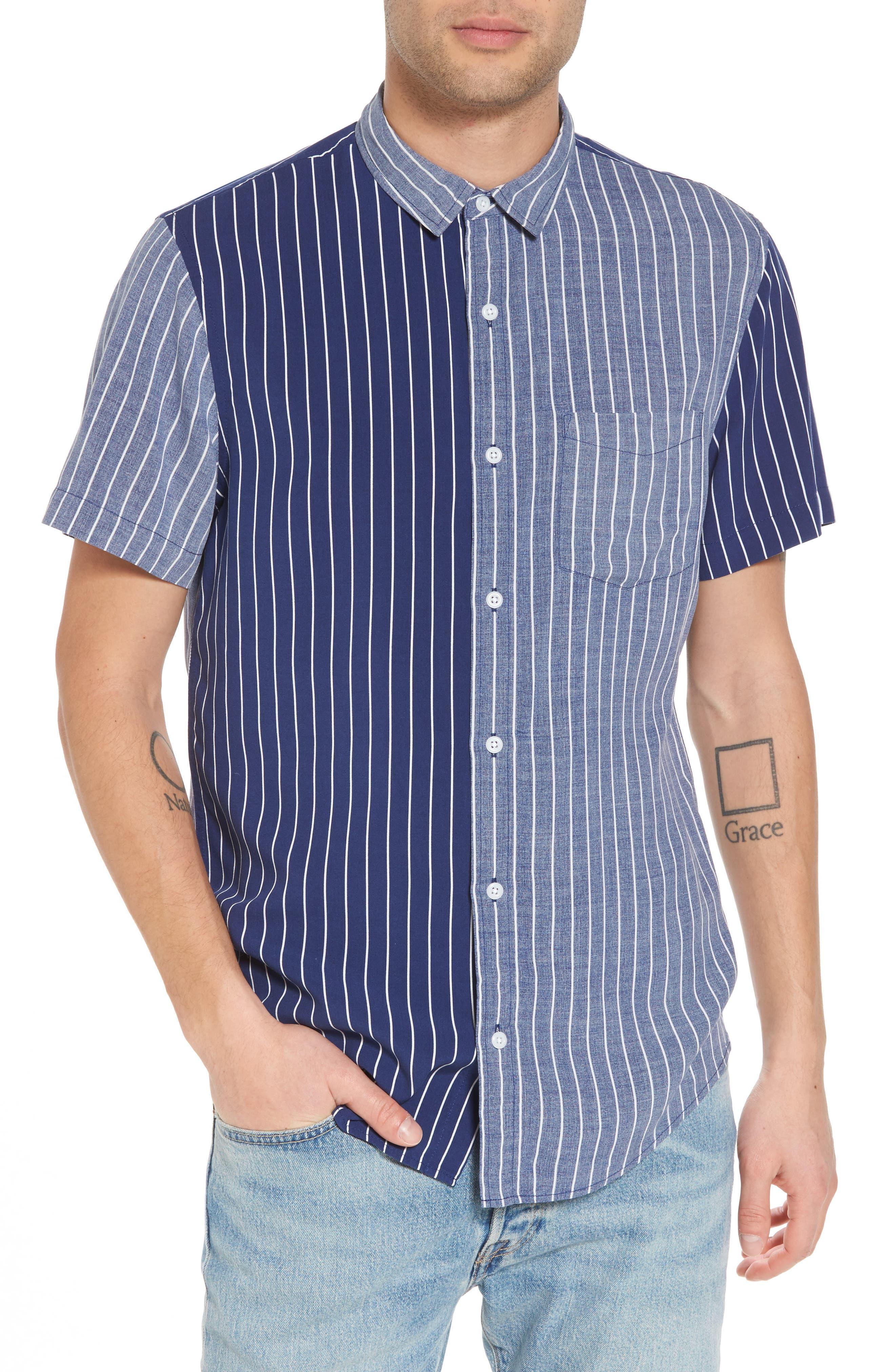 The Rail Short Sleeve Colorblock Stripe Shirt