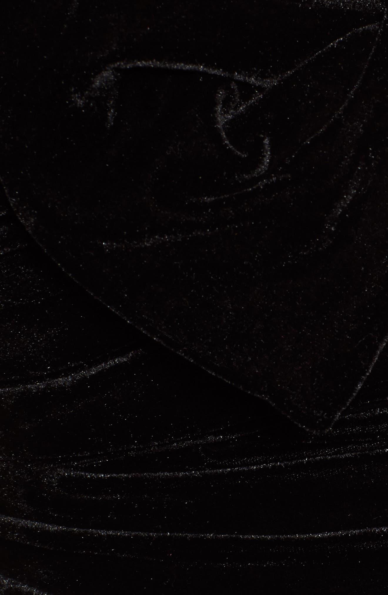 Twist Turn Velvet Crop Top,                             Alternate thumbnail 5, color,                             Black