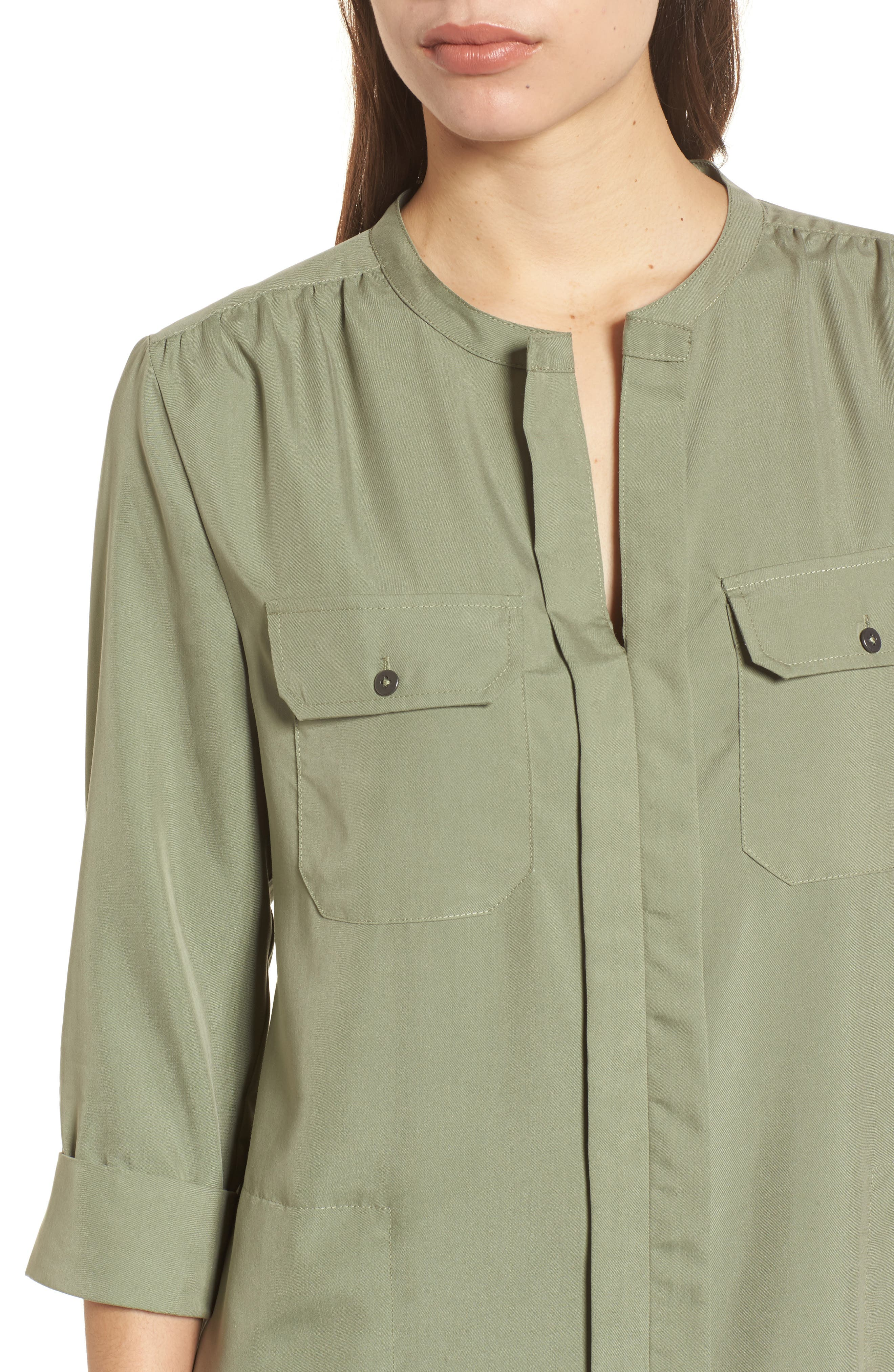 Wanderlust Shirtdress,                             Alternate thumbnail 4, color,                             Spring Moss