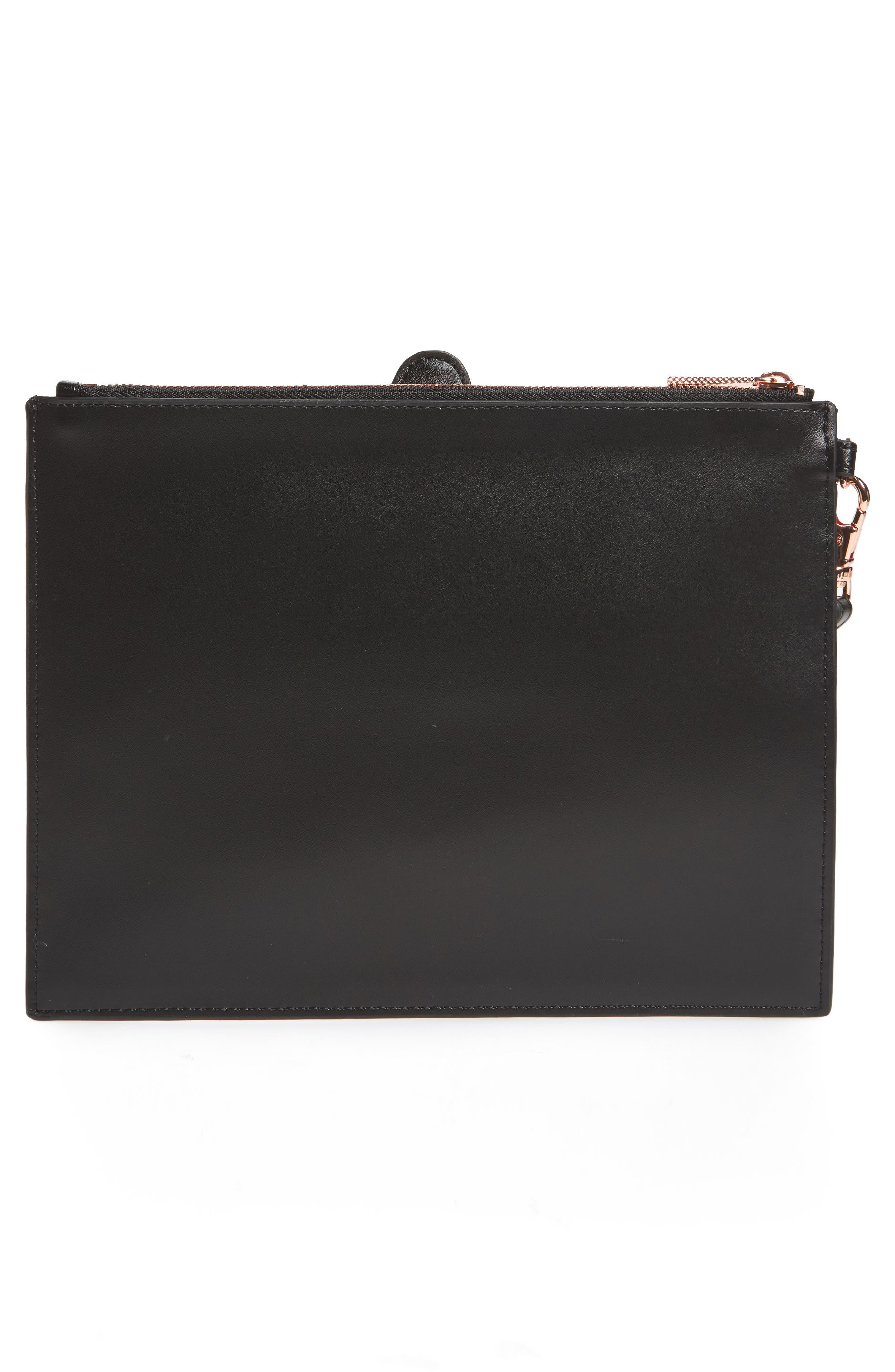 Barker Leather Pouch,                             Alternate thumbnail 3, color,                             Black