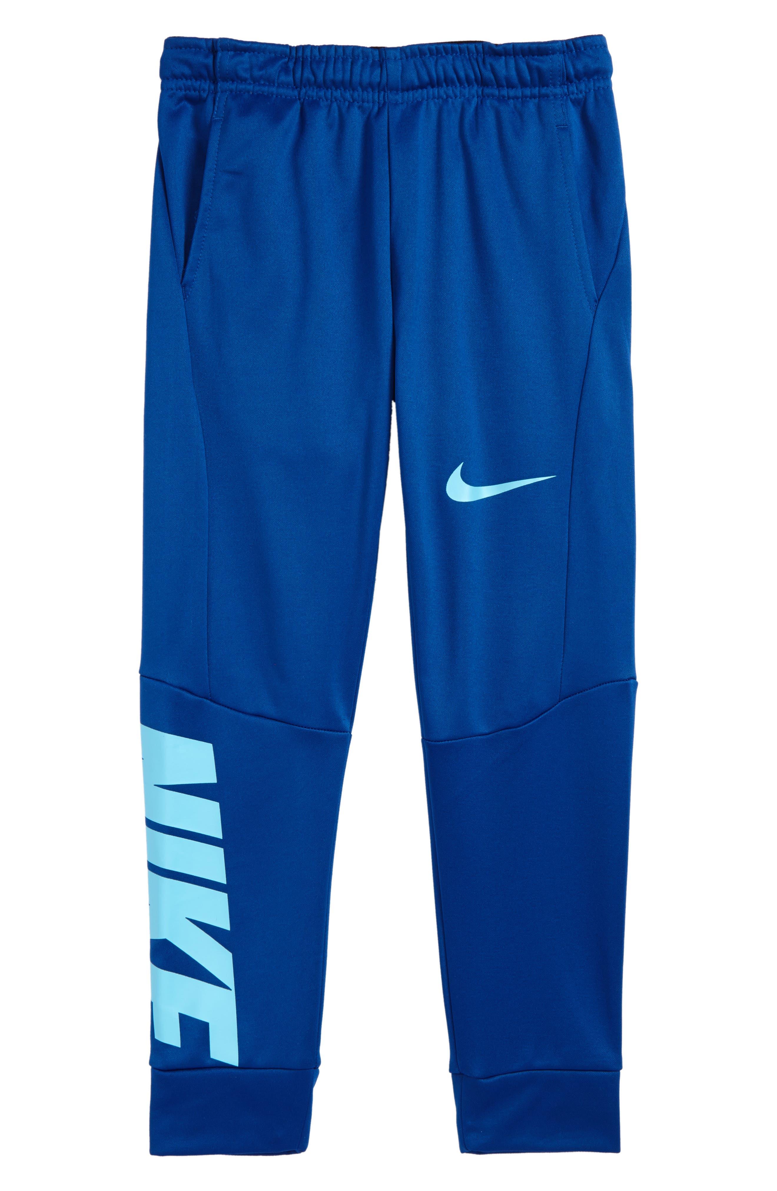 Therma-FIT GFX Fleece Jogger Pants,                         Main,                         color, Gym Blue
