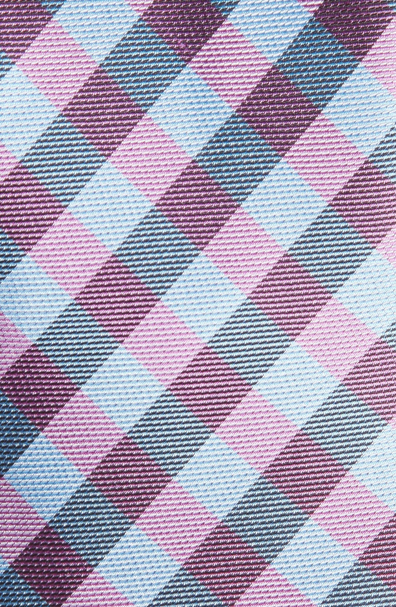 Welker Check Silk Skinny Tie,                             Alternate thumbnail 2, color,                             Blue