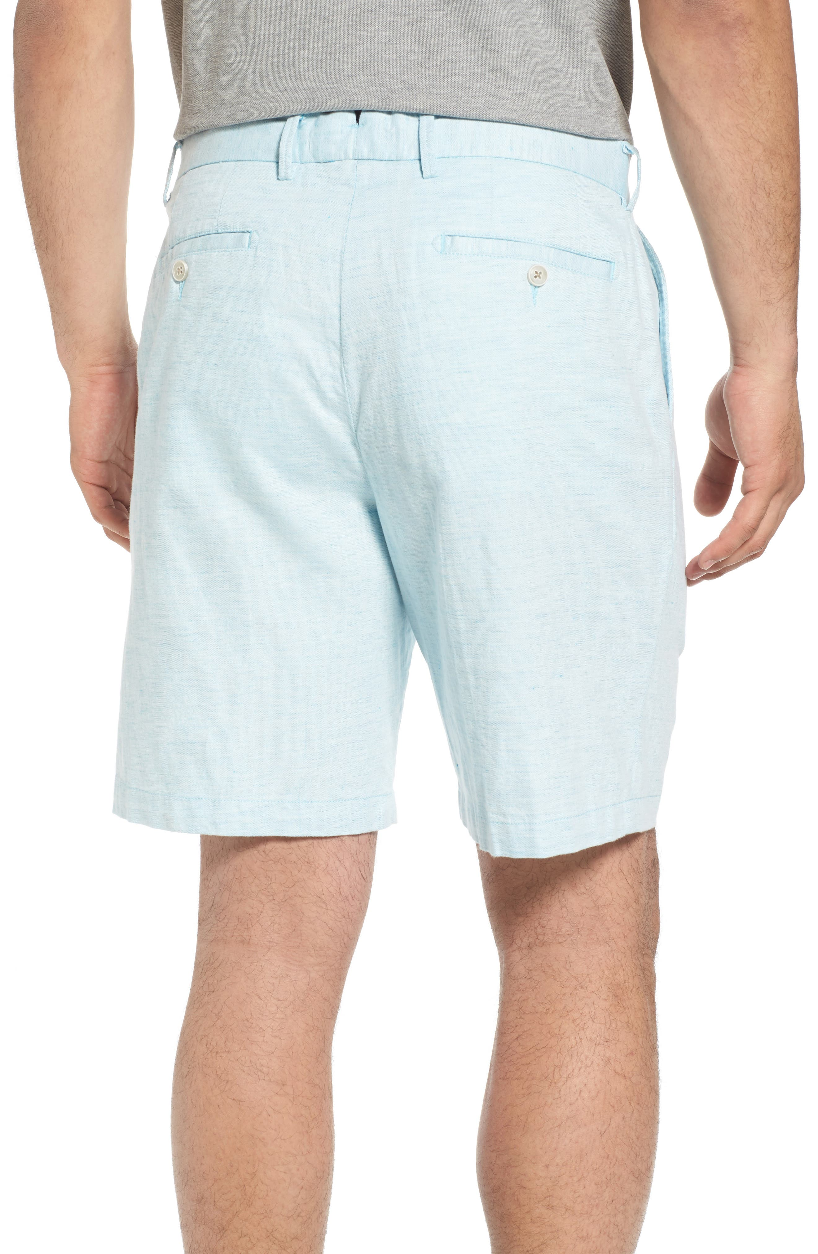Crown Cool Delave Flat Front Shorts,                             Alternate thumbnail 2, color,                             Grotto Blue