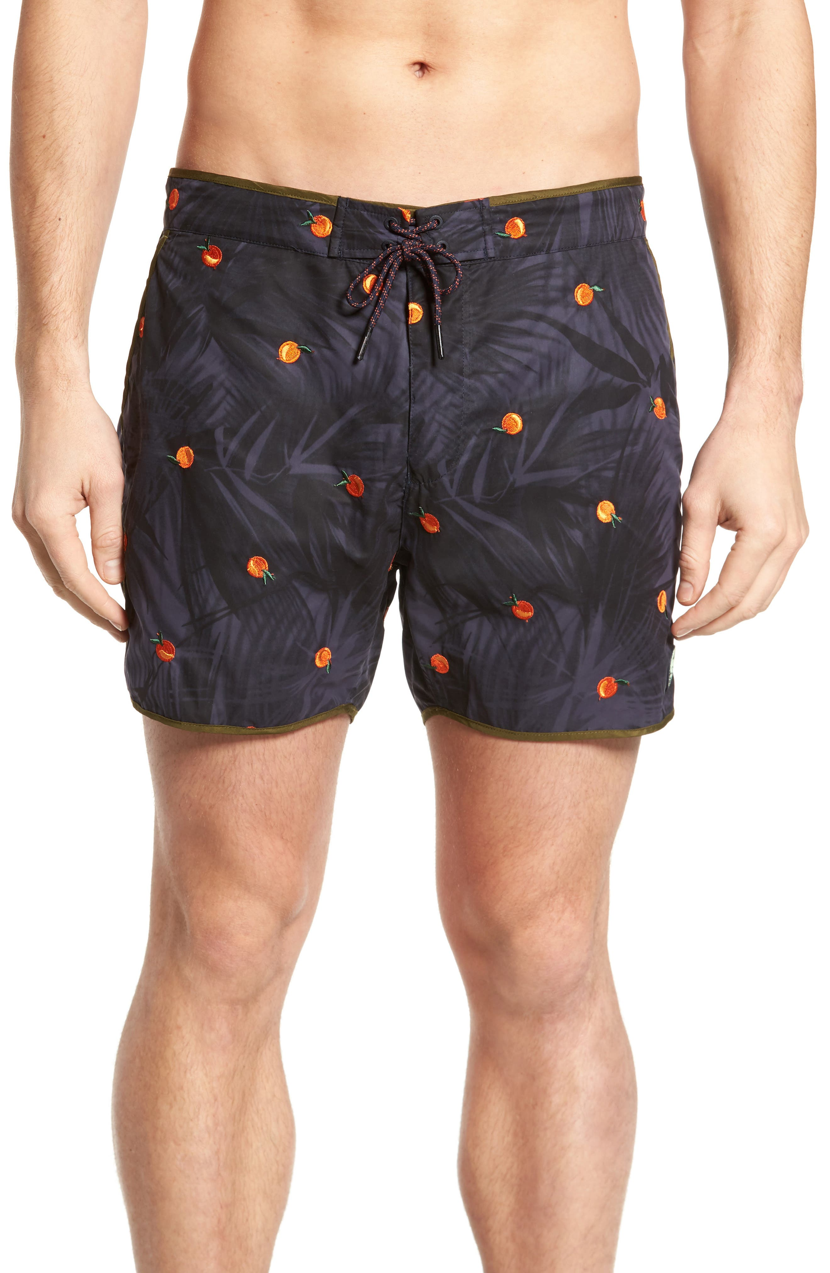 Print Swim Trunks,                             Main thumbnail 1, color,                             Combo B