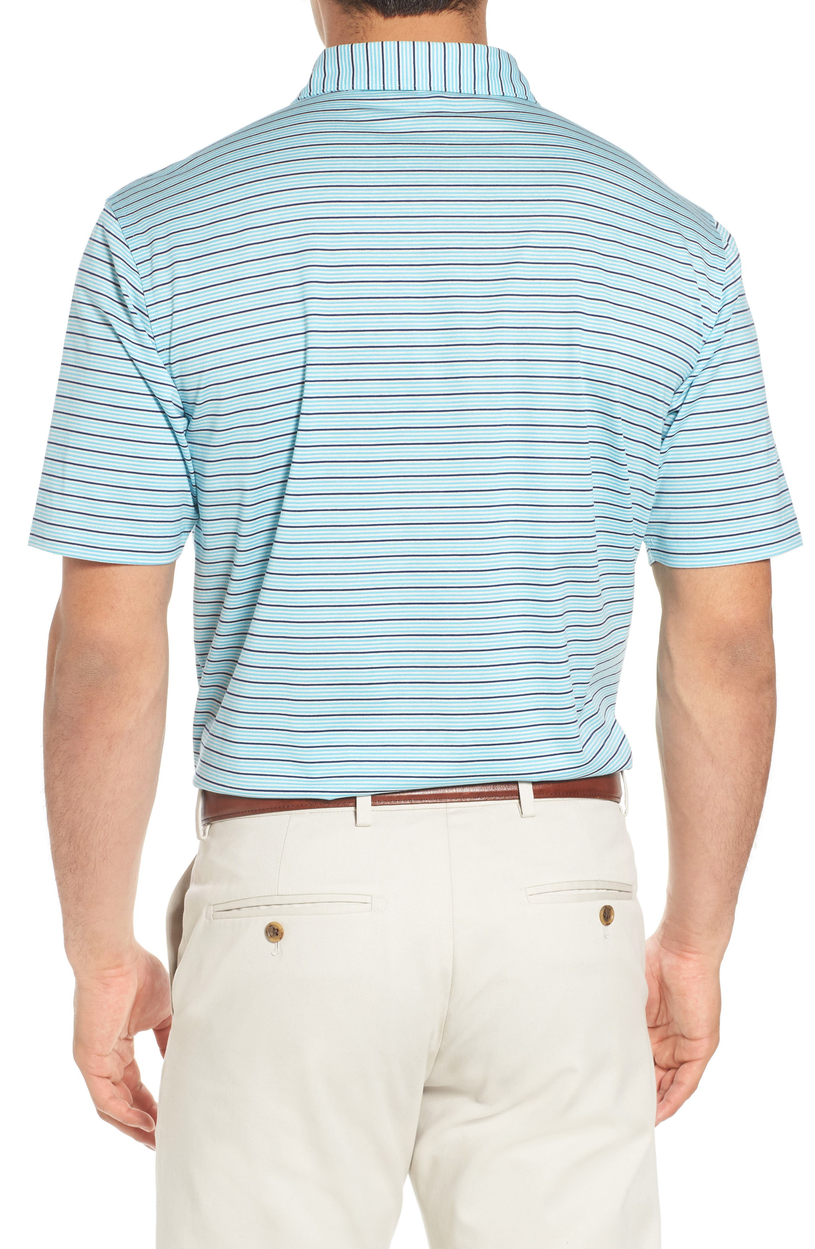 Alternate Image 2  - Peter Millar Grandview Sean Stripe Nanoluxe Polo