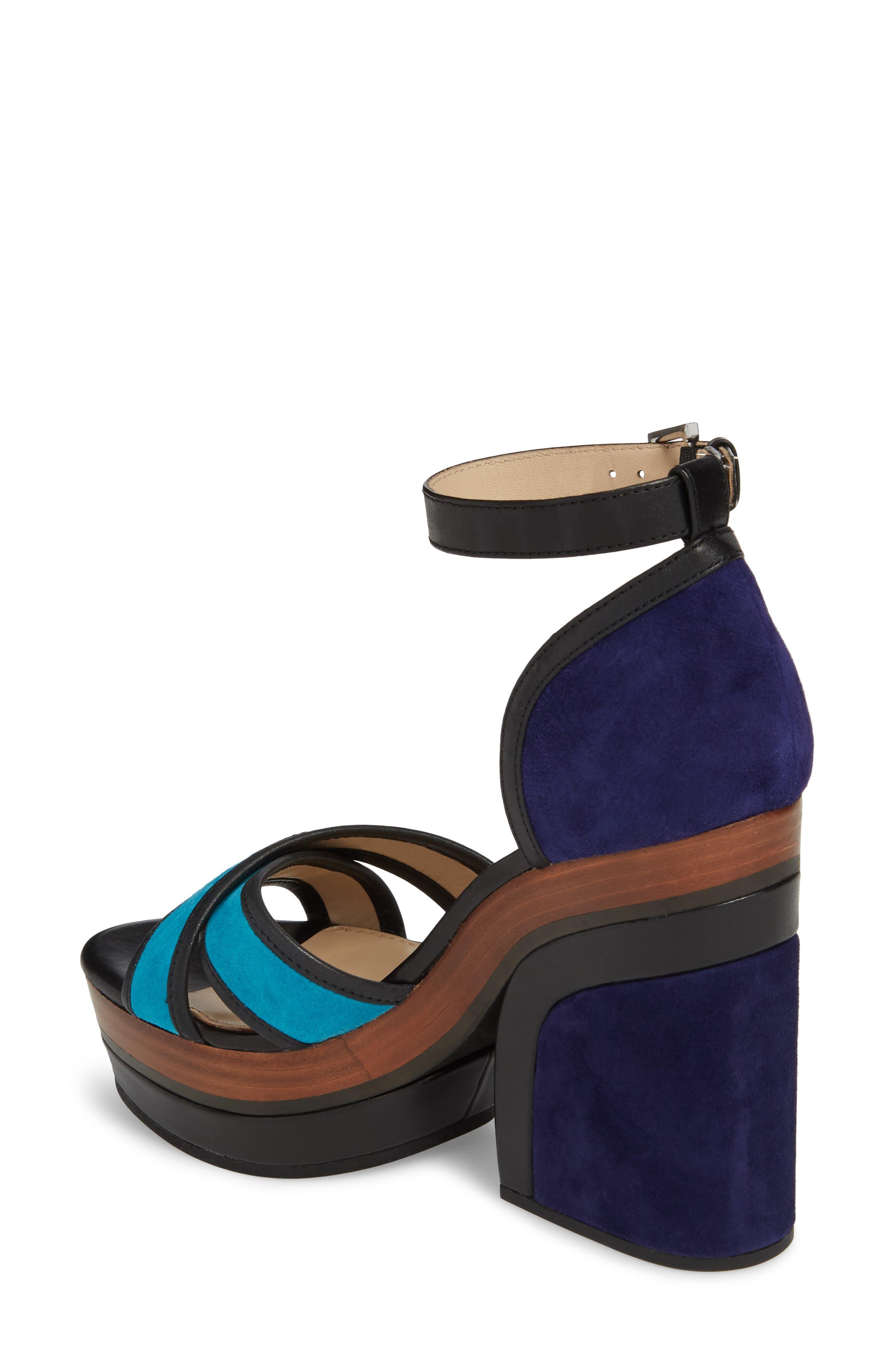 Paloma Ankle Strap Sandal,                             Alternate thumbnail 2, color,                             Ultra Marine Suede