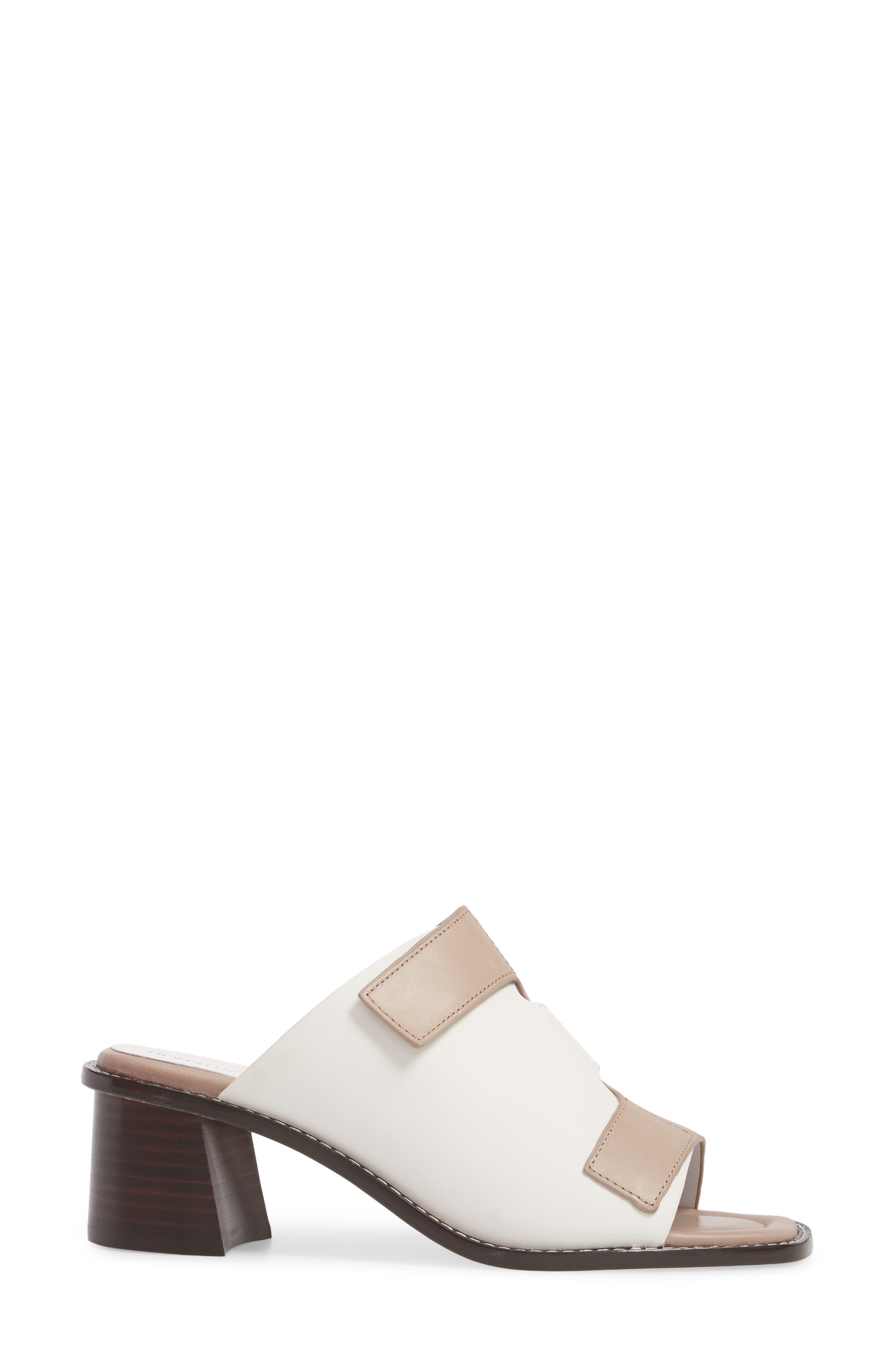 Amalia Block Heel Sandal,                             Alternate thumbnail 3, color,                             Bone Leather