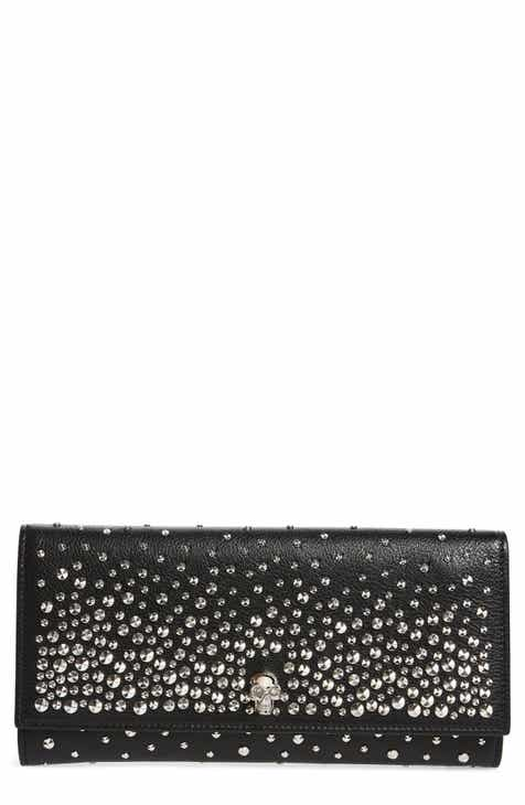 725b1051744 Alexander McQueen Studded Leather Travel Wallet