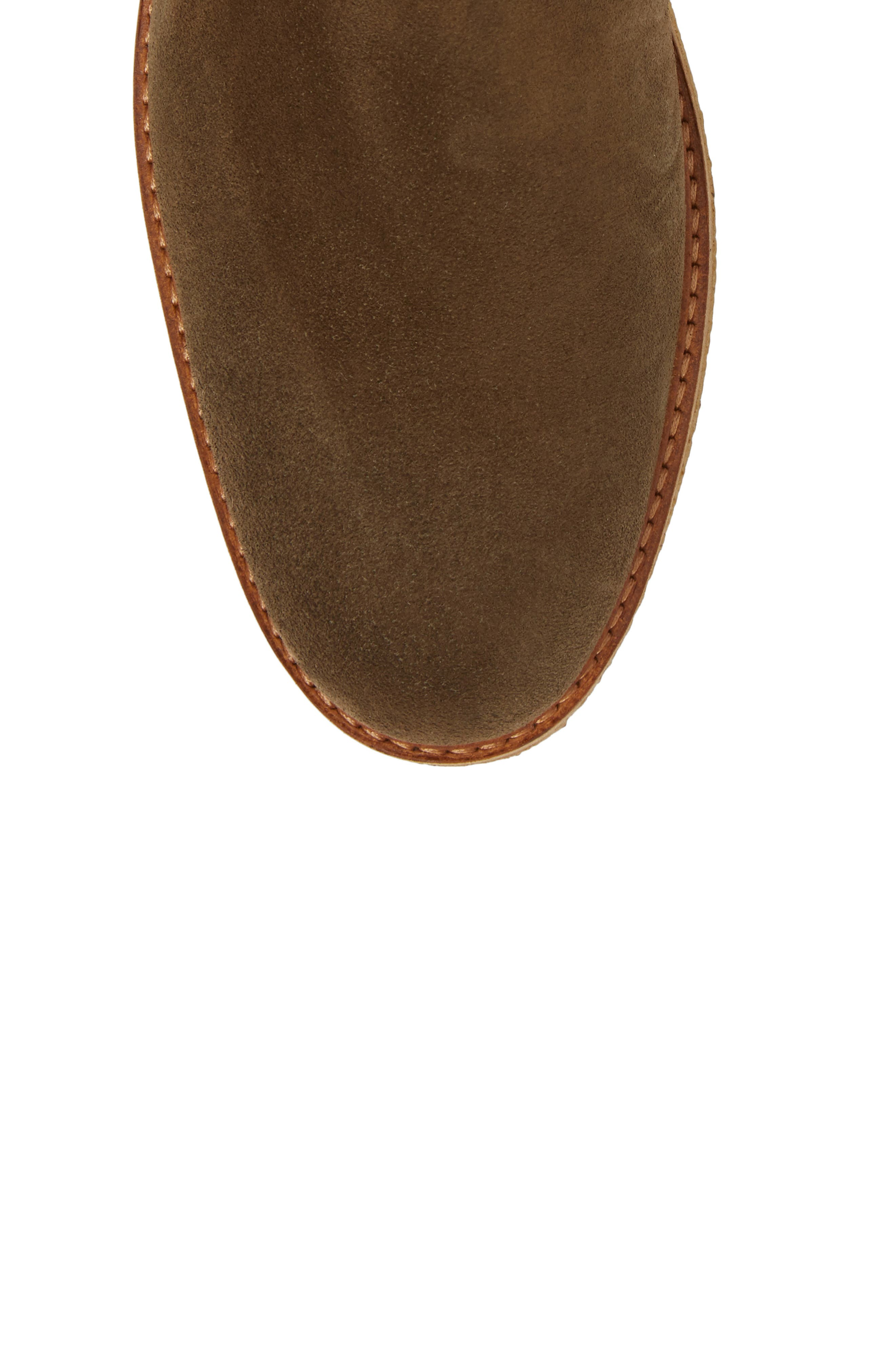 Bronzo Chelsea Boot,                             Alternate thumbnail 4, color,                             Dark Green Suede