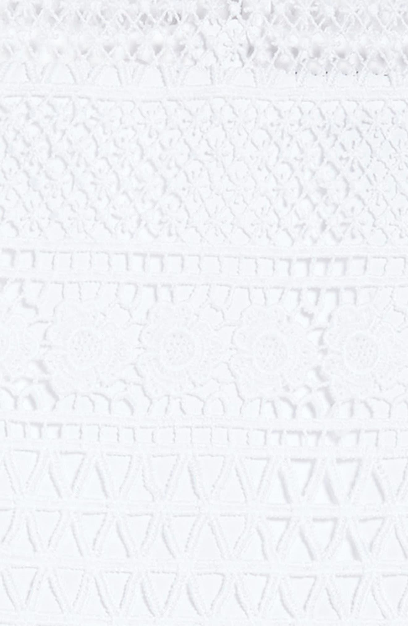 Linear Lace Dress,                             Alternate thumbnail 2, color,                             Ivory