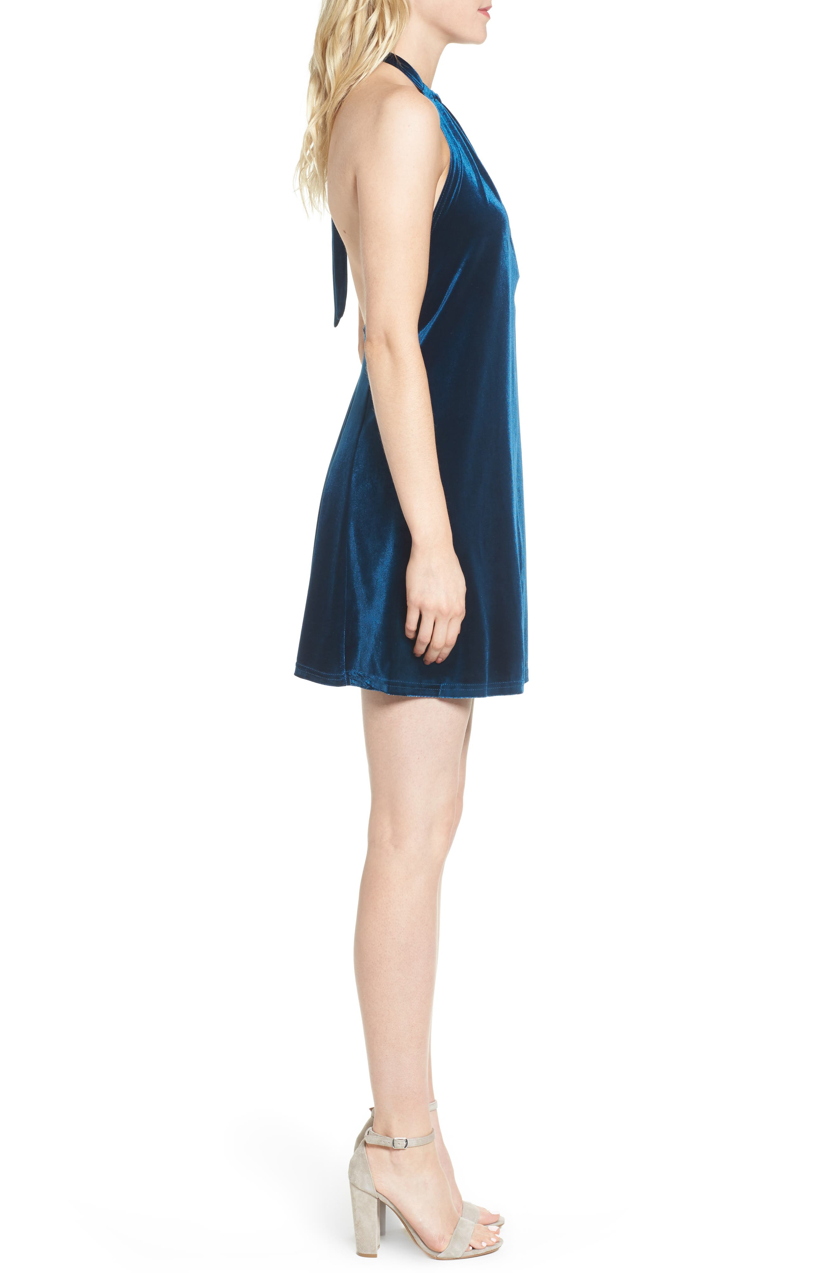 Alternate Image 3  - Bishop + Young Talia Velvet Minidress